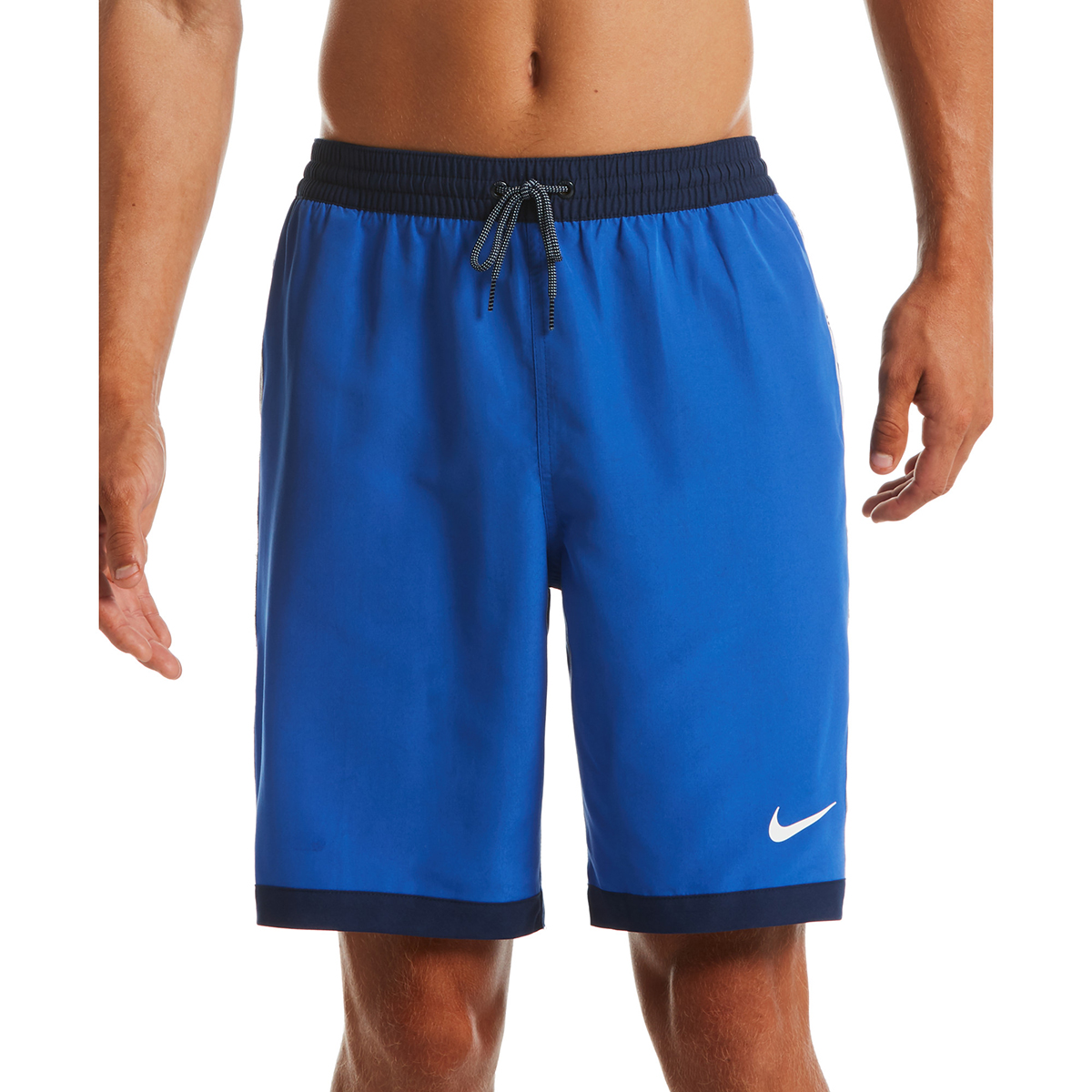 "Nike Men's Funfetti Racer 9"" Swim Trunks - Blue, M"
