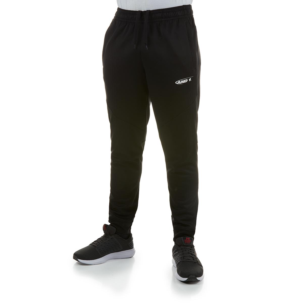 And1 Men's Tricot Jogger Pants - Black, M