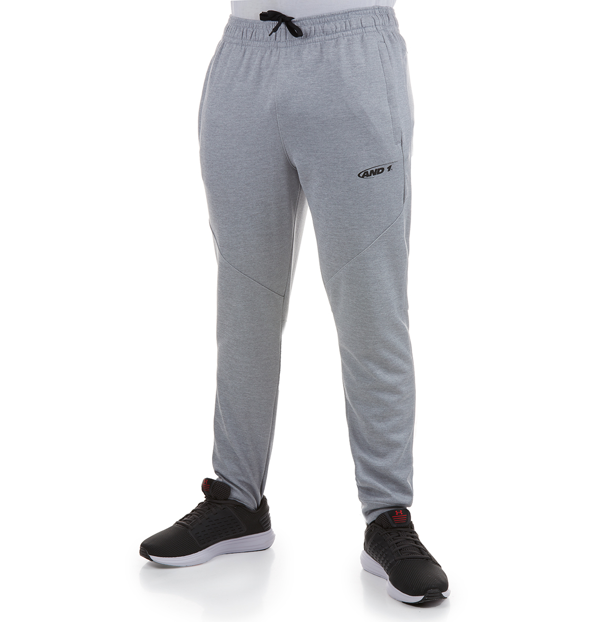 And1 Men's Tricot Jogger Pants - Black, L