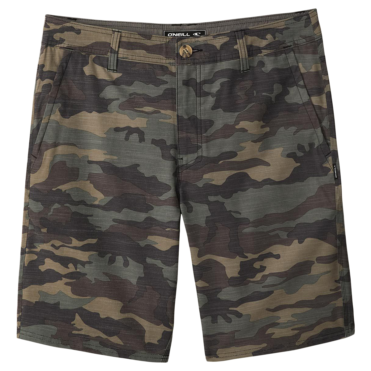 O'neill Men's Locked Slub Shorts - Green, 34