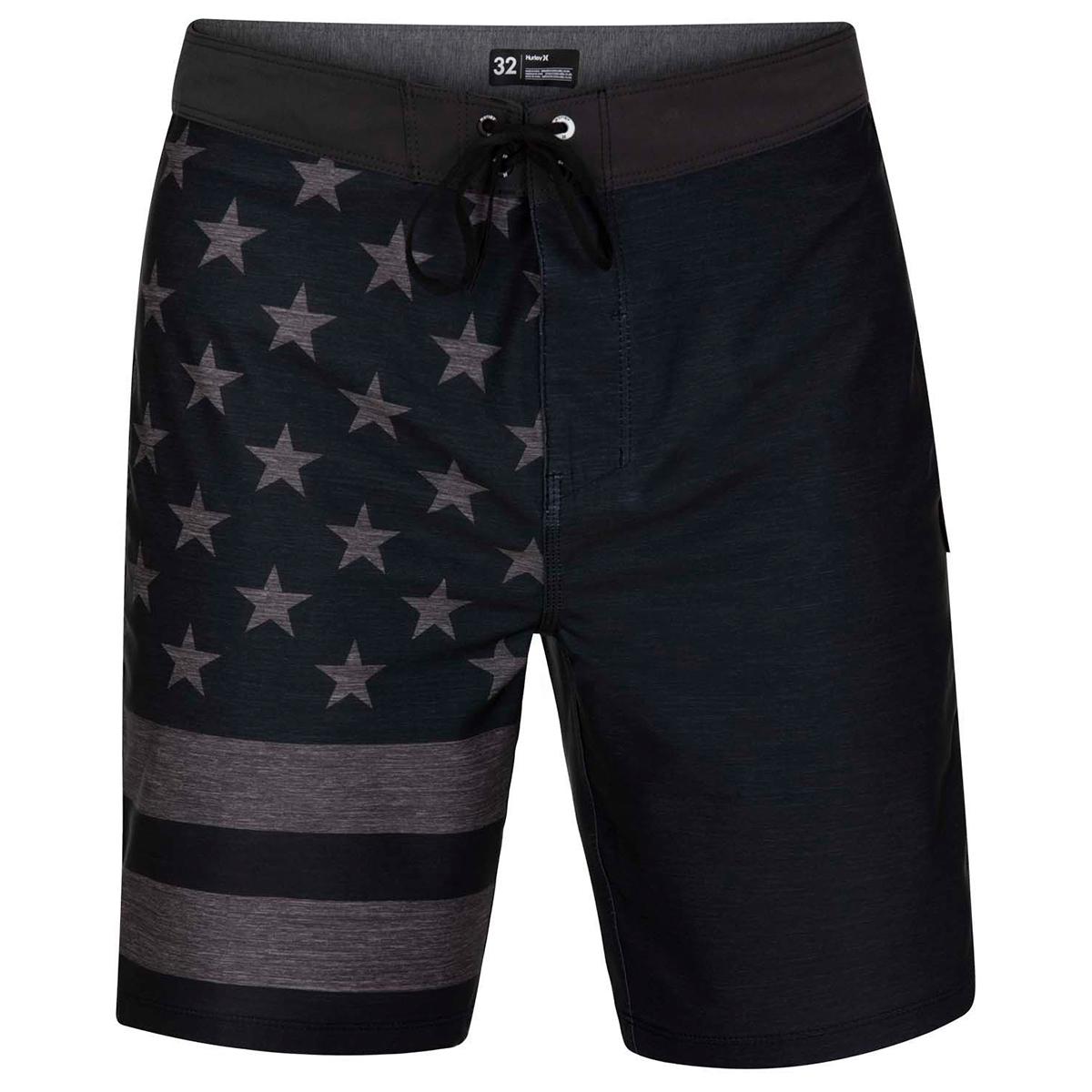 """Hurley Men's  Phantom Patriot 20"""" Board Shorts - Black, 30"""