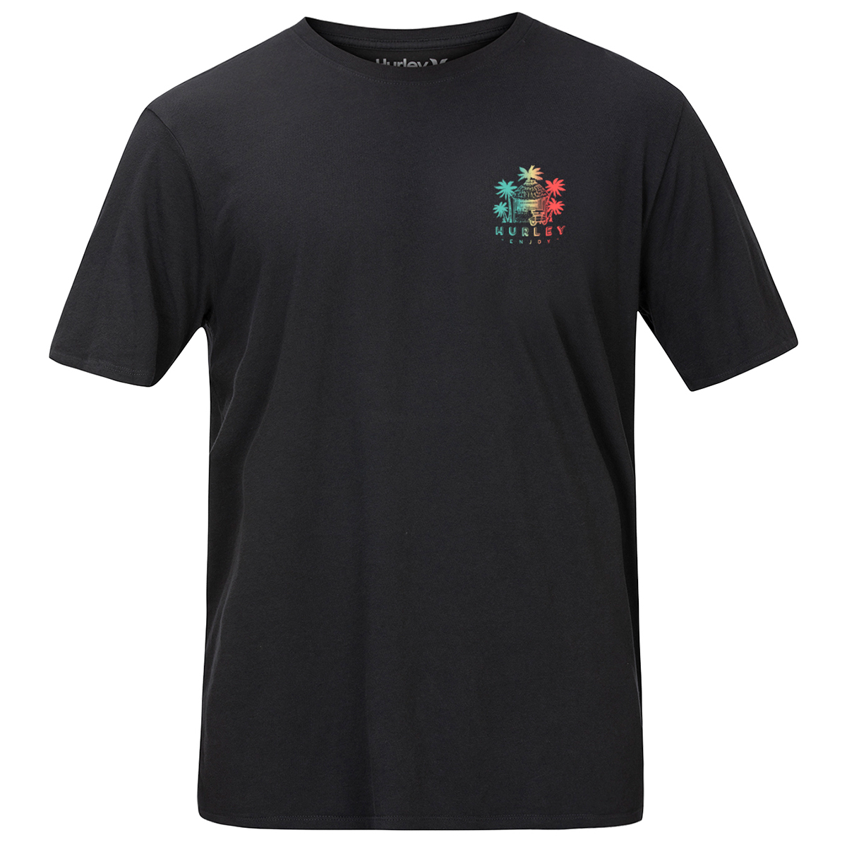 Hurley Men's Get Shacked Short-Sleeve Tee - Black, XL