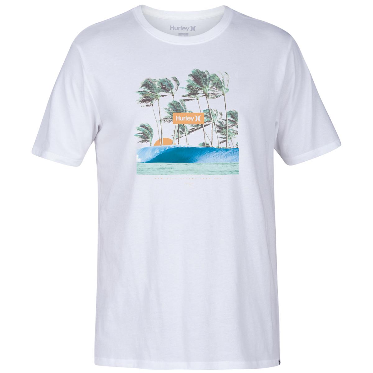 Hurley Men's Short-Sleeve Premium Offshore Tee - White, S