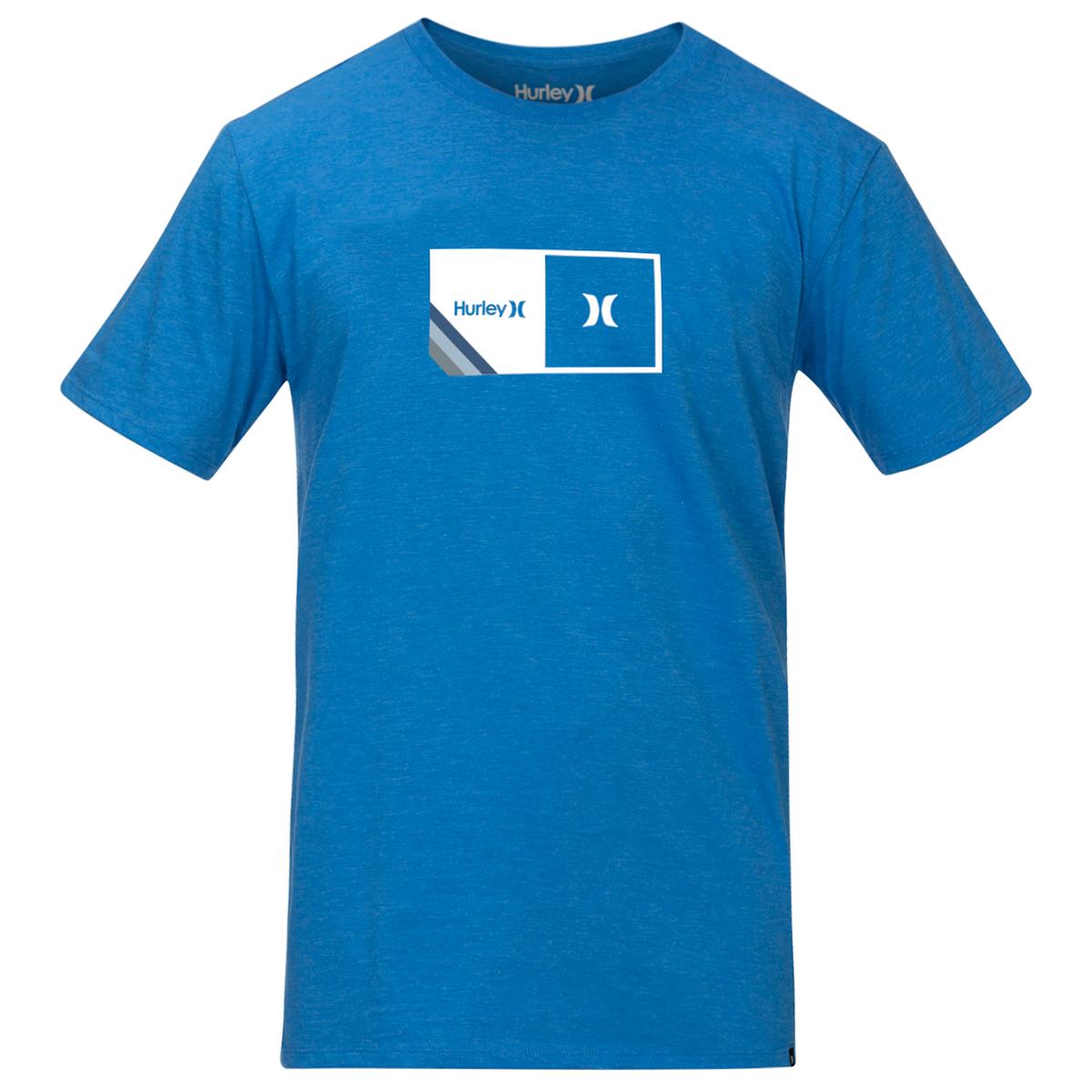 Hurley Men's Short-Sleeve Halfer Stripe Tee - Blue, M