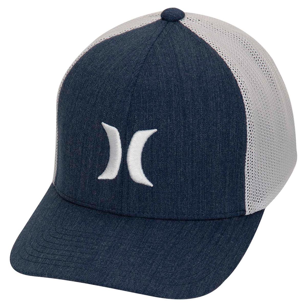 Hurley Men's Icon Textures Hat - Blue, L/XL