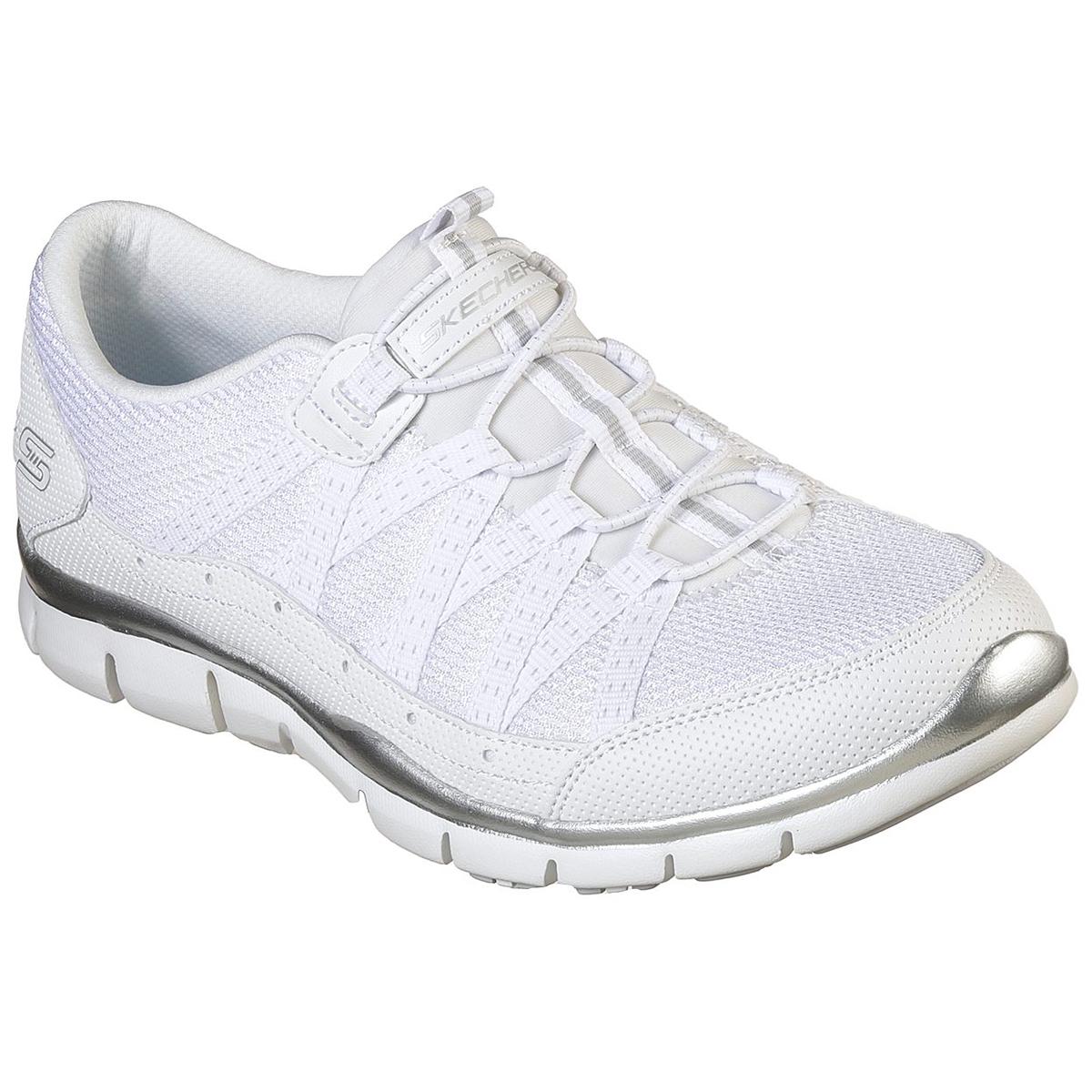 Skechers Women's Gratis-Strolling Shoe, Wide - White, 7