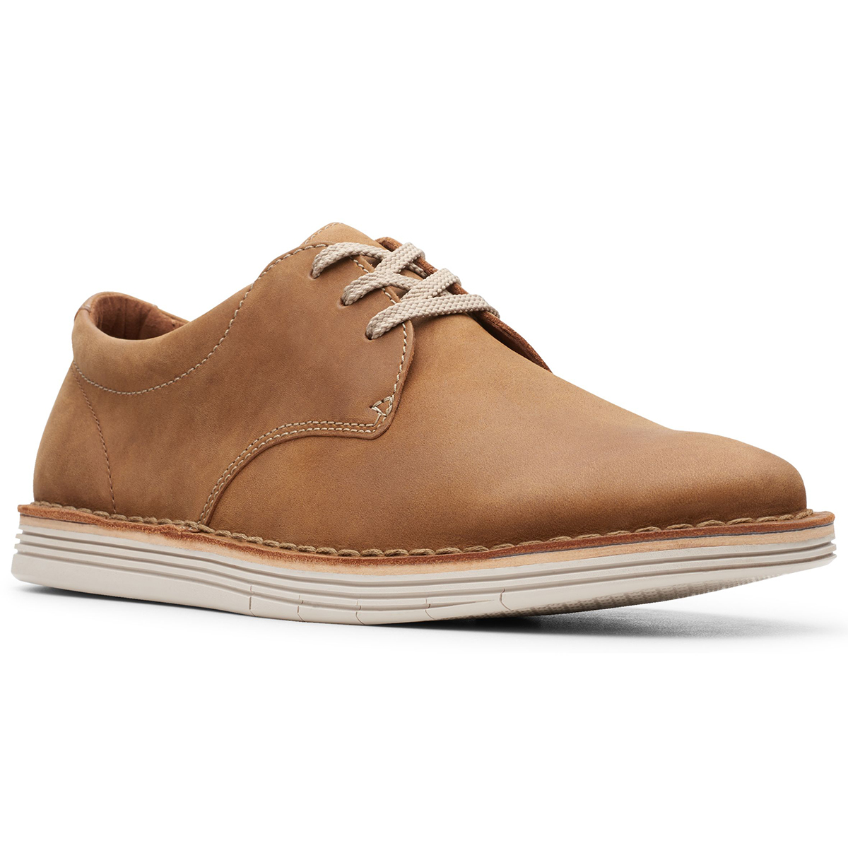 Clarks Forge Vibe Casual Lace-Up Shoes - Brown, 9