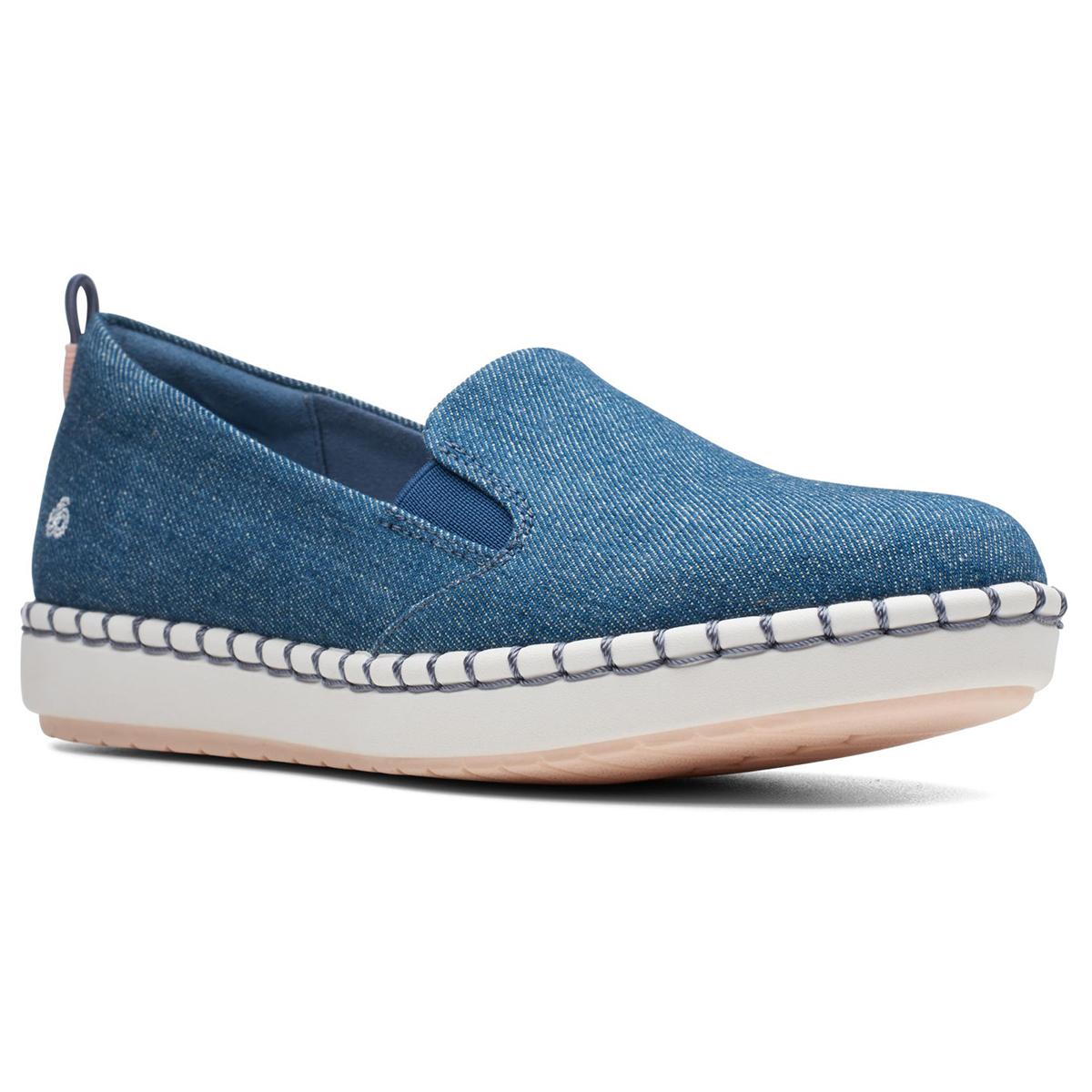 Clarks Women's Cloudstepper Step Glow Slip-On Shoes - Blue, 6