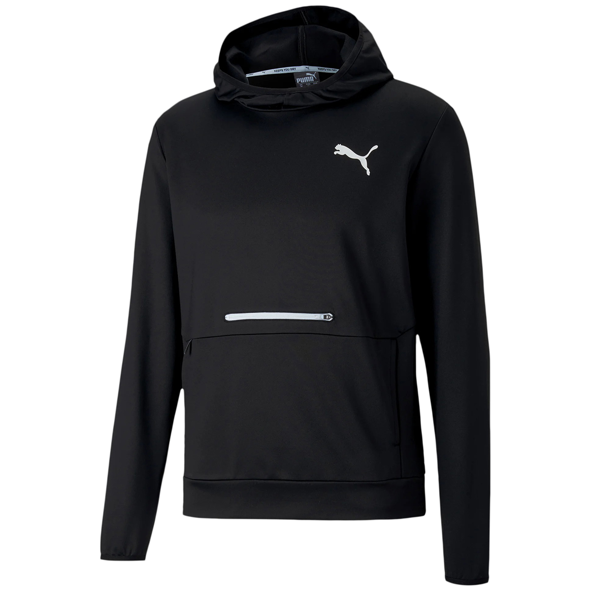 Puma Men's Long-Sleeve Training Hoodie - Black, L