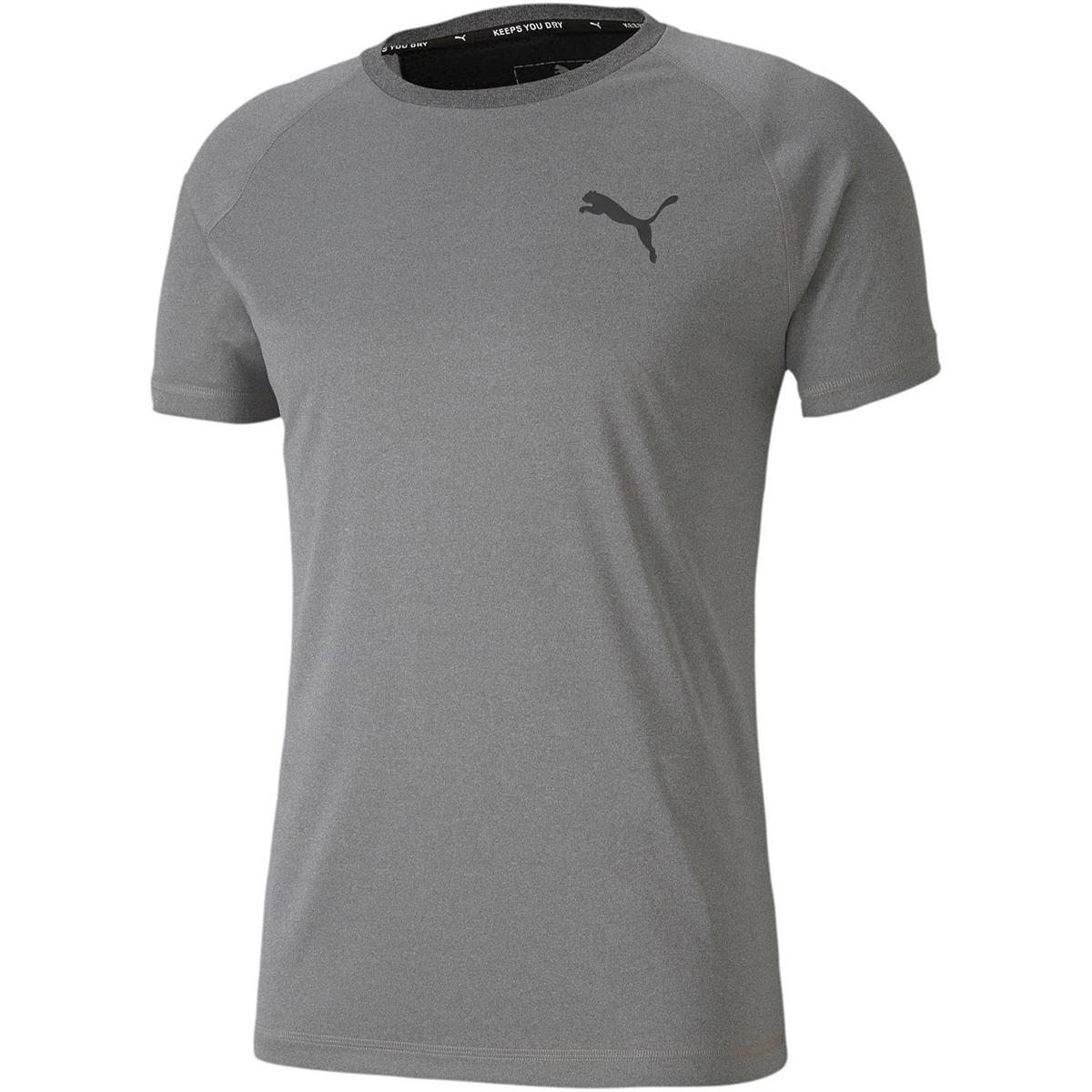 Puma Men's Short-Sleeve Performance Tee - Black, M