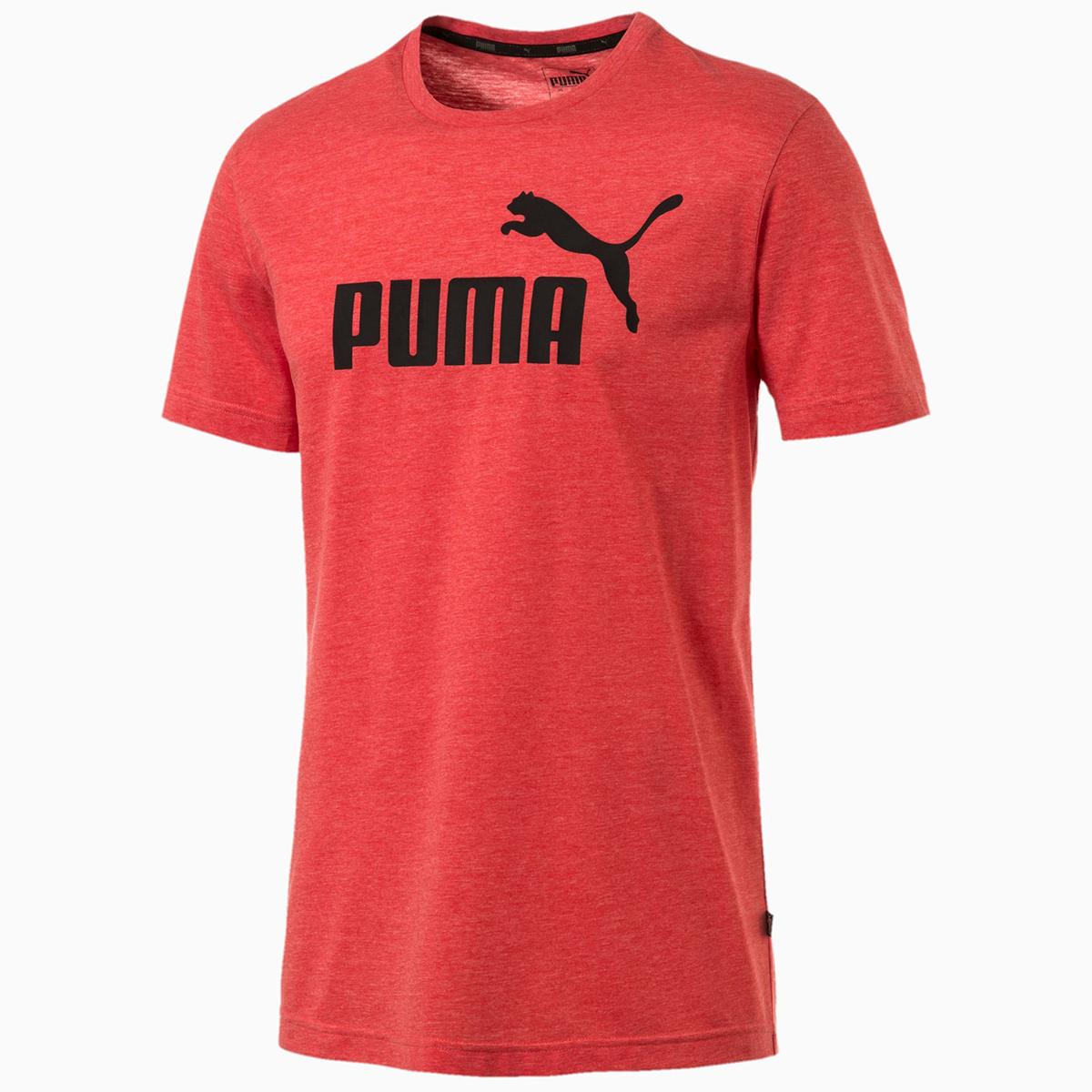 Puma Men's Essentials Short-Sleeve Tee - Red, M