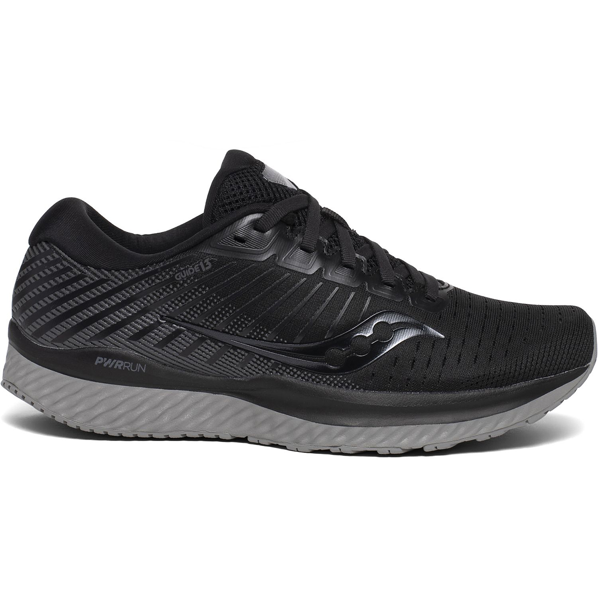 Saucony Women's Guide 13 Running Shoes, Wide - Black, 8