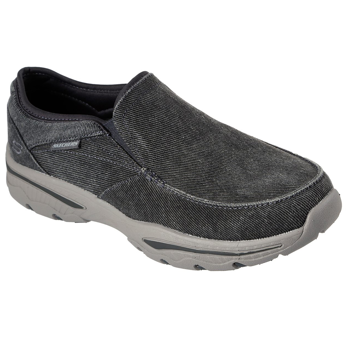 Skechers Men's Creston Moseco Slip-On Shoes - Black, 10.5