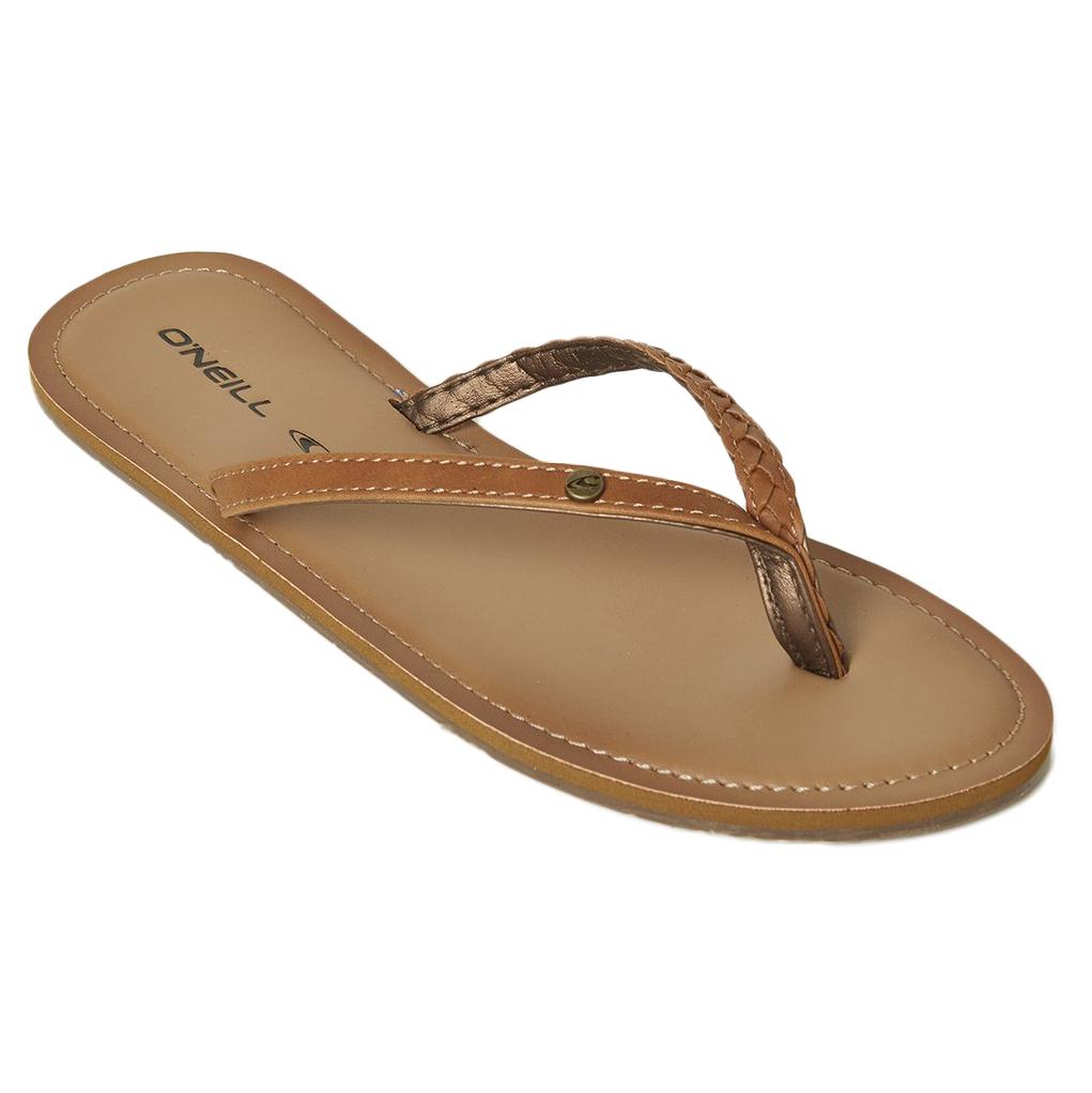 O'neill Women's Pier Braided Flip-Flops - Brown, 6