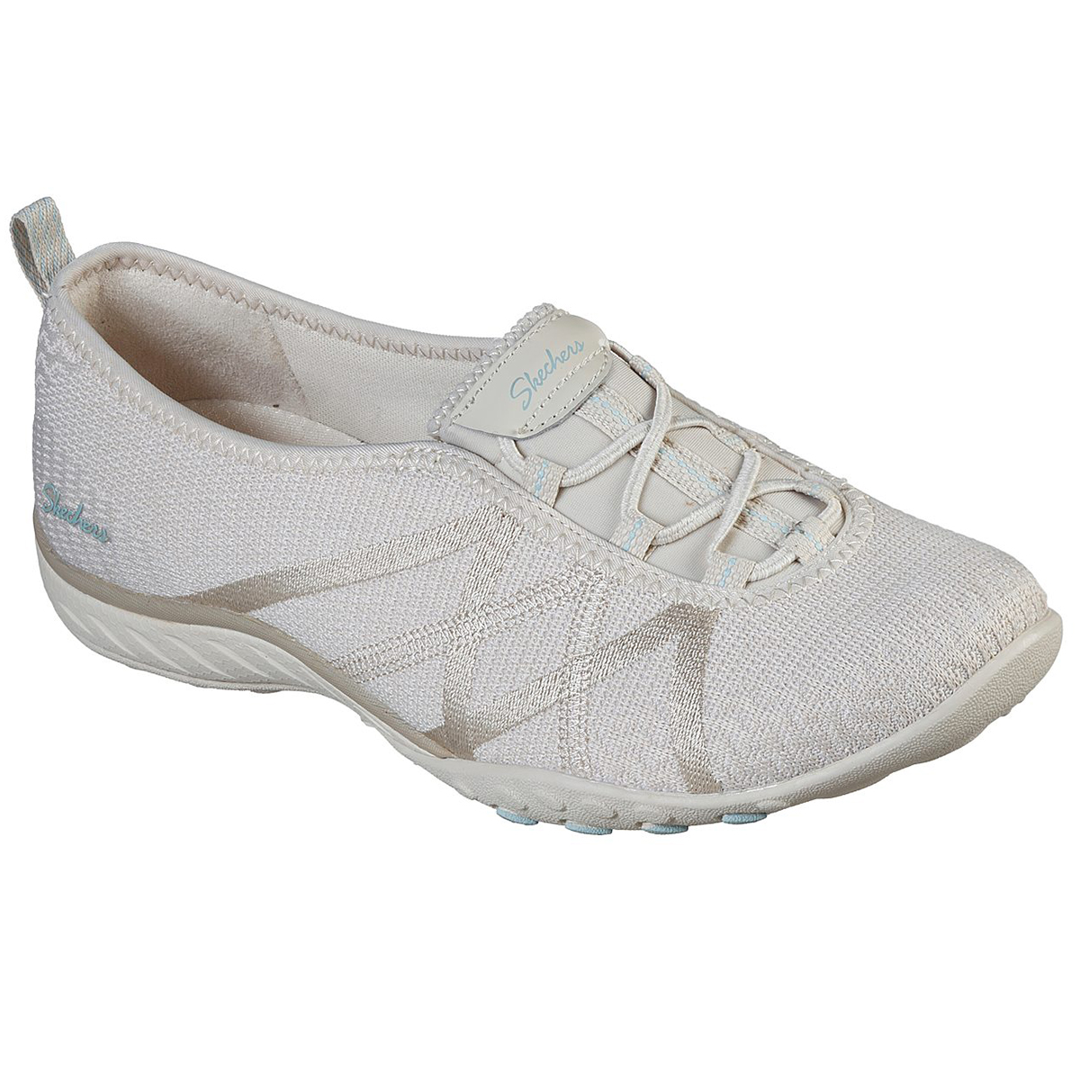 Skechers Women's Relaxed Fit: Breathe-Easy-A-Look Sneaker - White, 7
