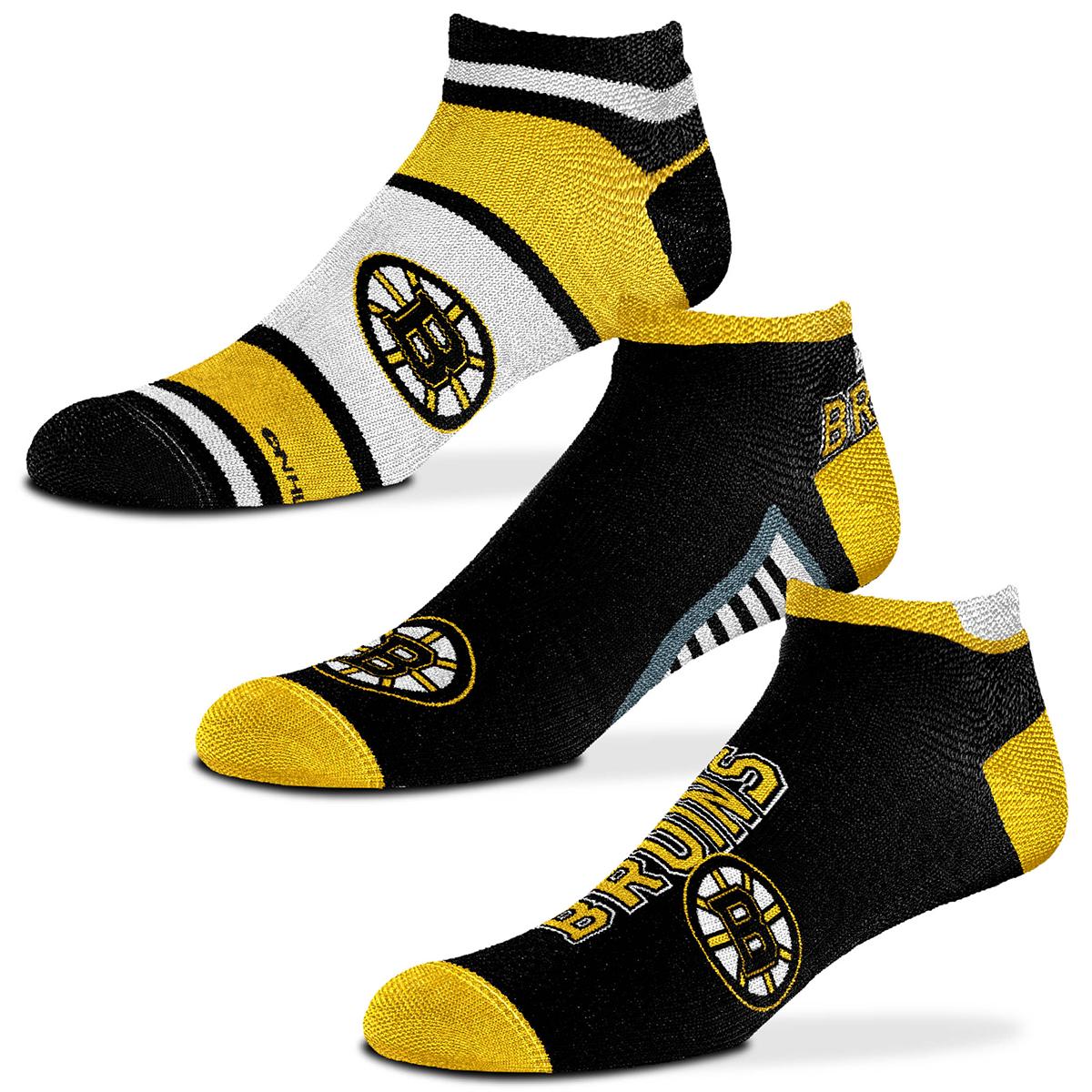 Boston Bruins Show Me The Money Socks, 3 Pack - Various Patterns, L