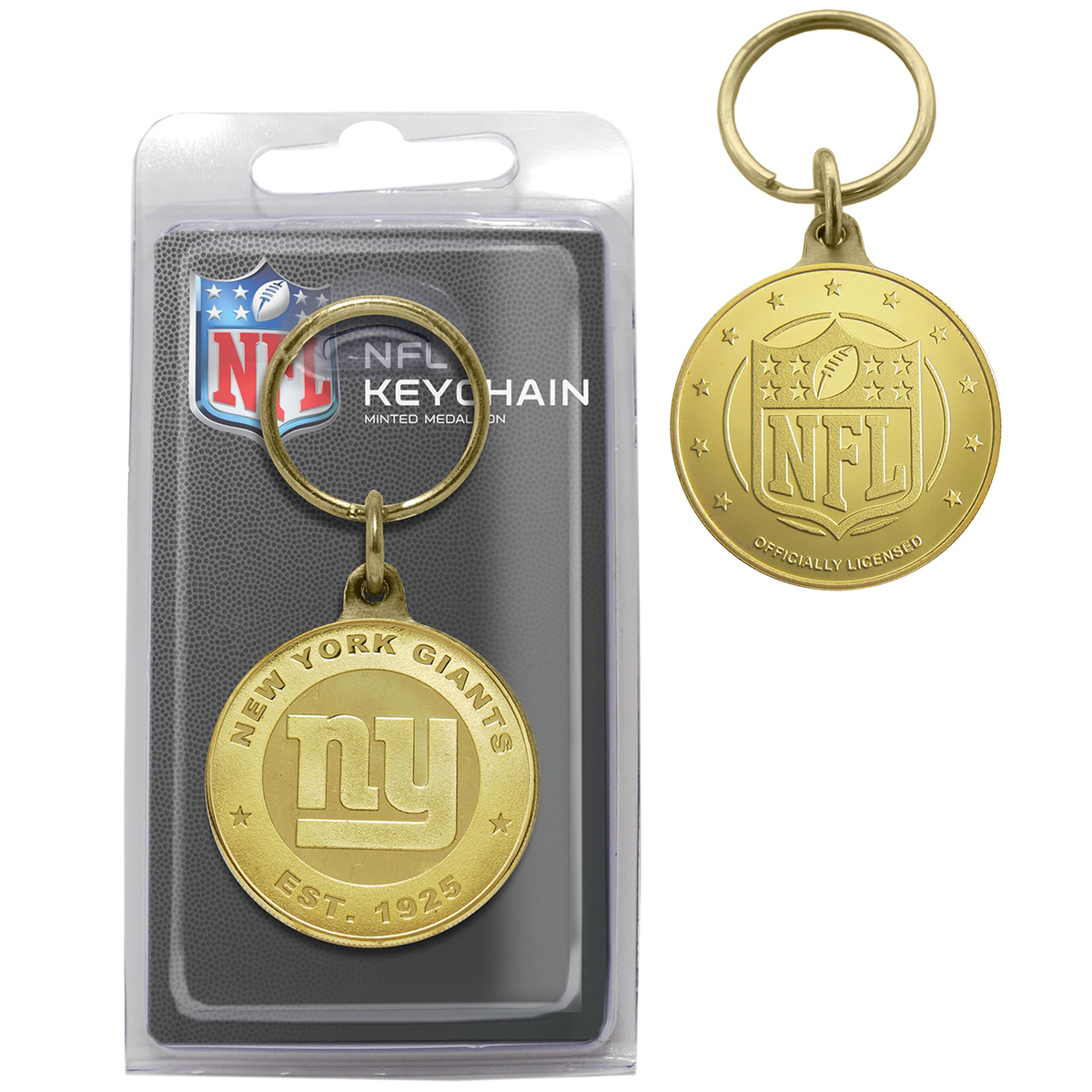 New York Giants Bronze Coin Keychain