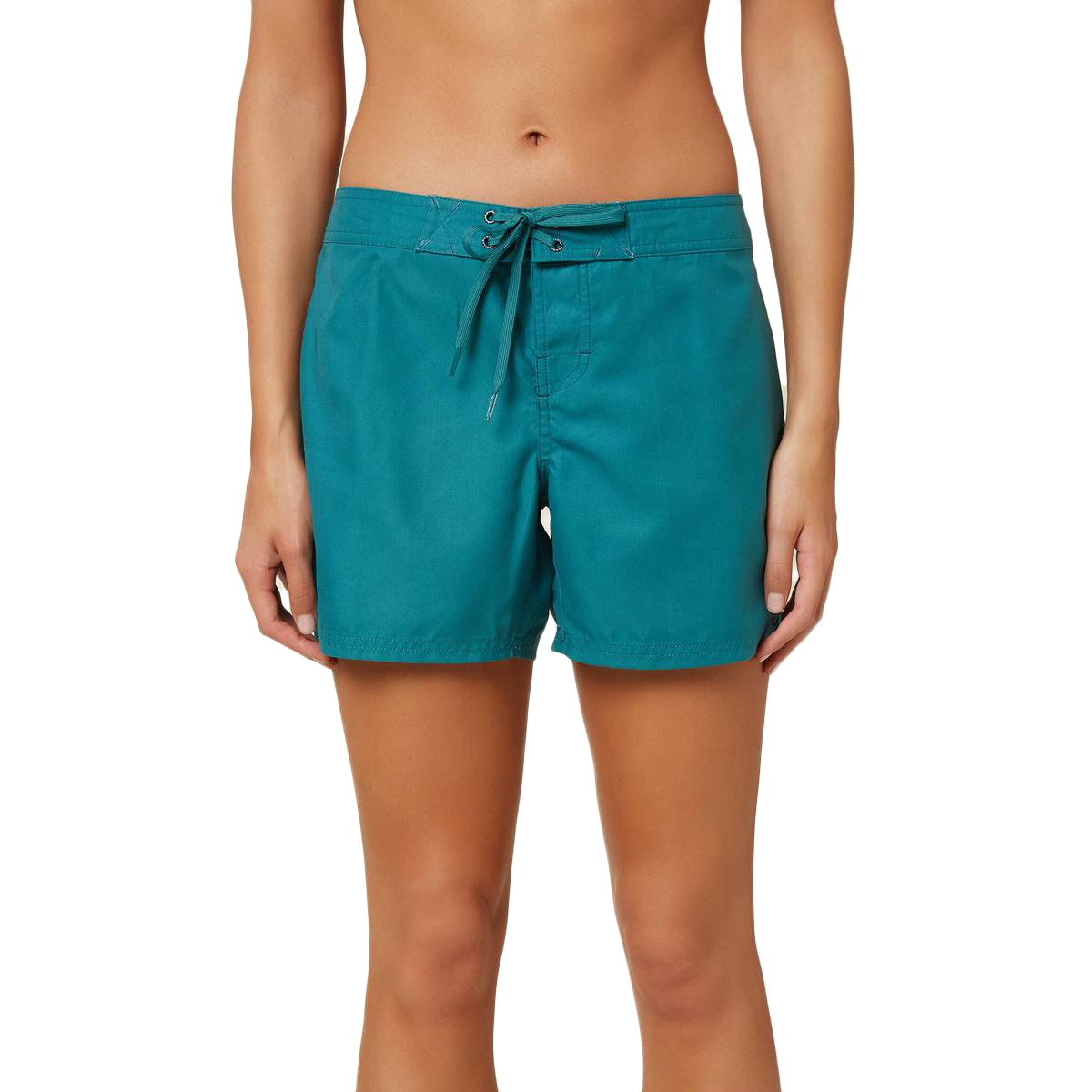"O'neill Women's Saltwater Solids 5"" Boardshort - Green, 11"