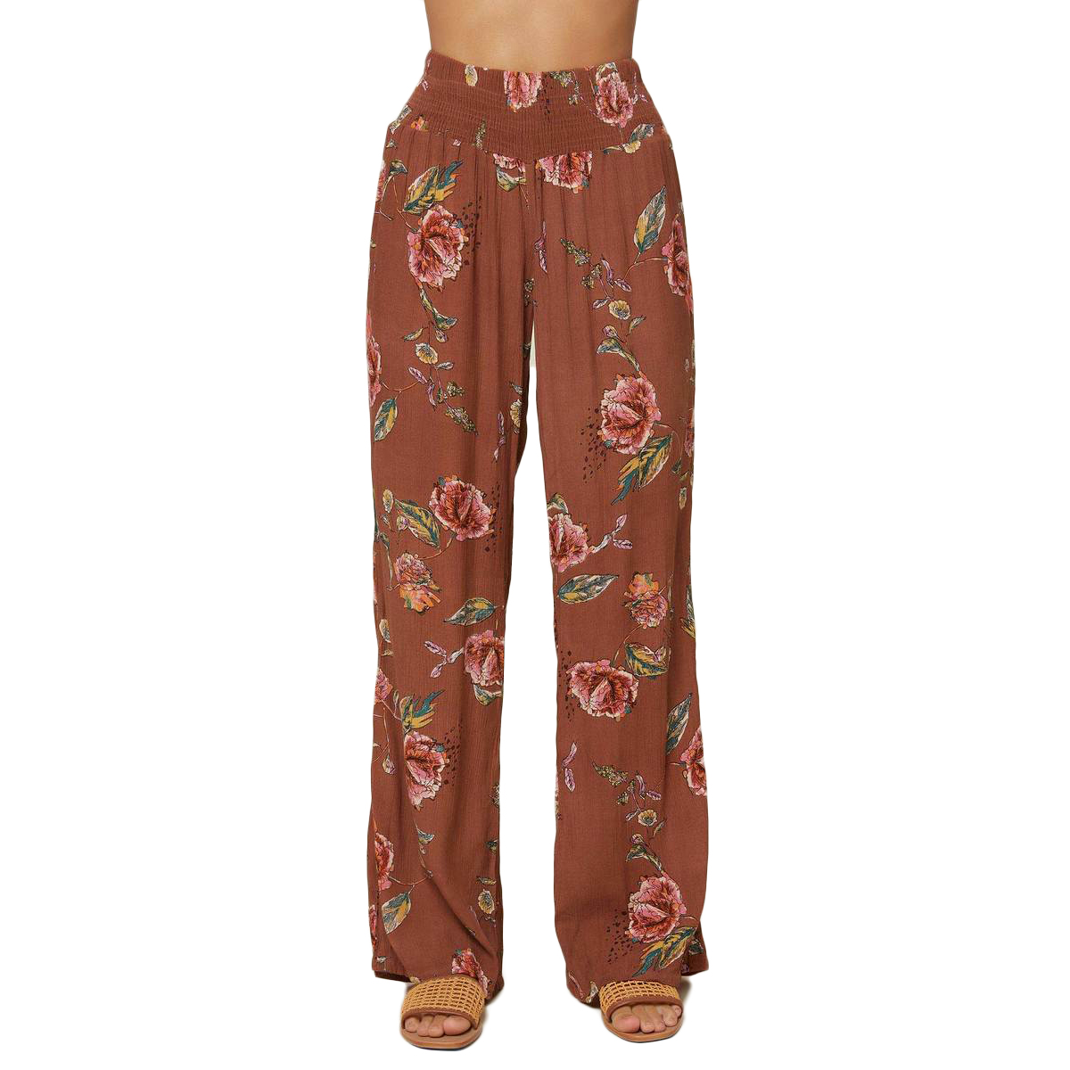 O'neill Women's Johnny Floral Pants - Brown, M