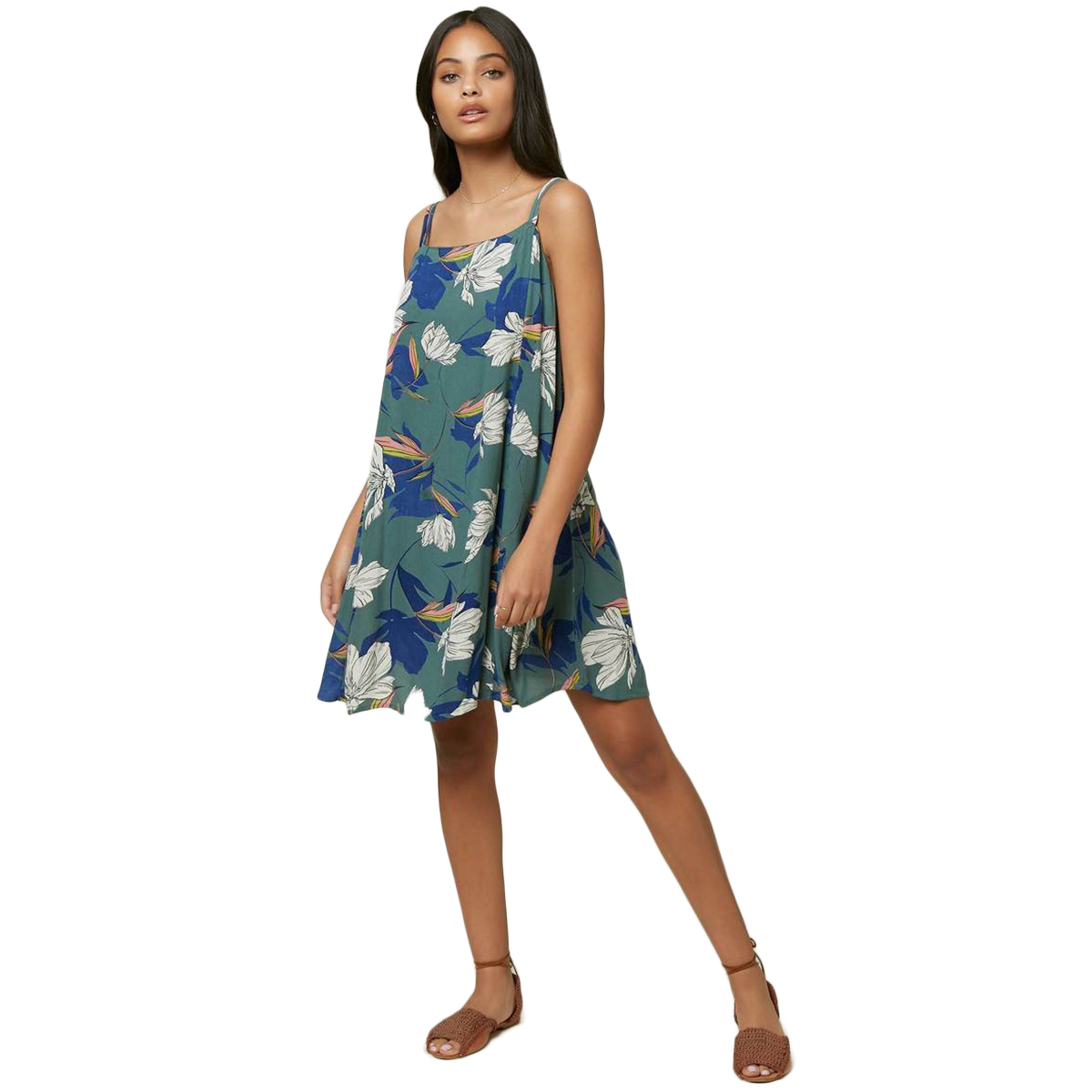 O'neill Women's Floral Print Azalea Dress - Blue, M