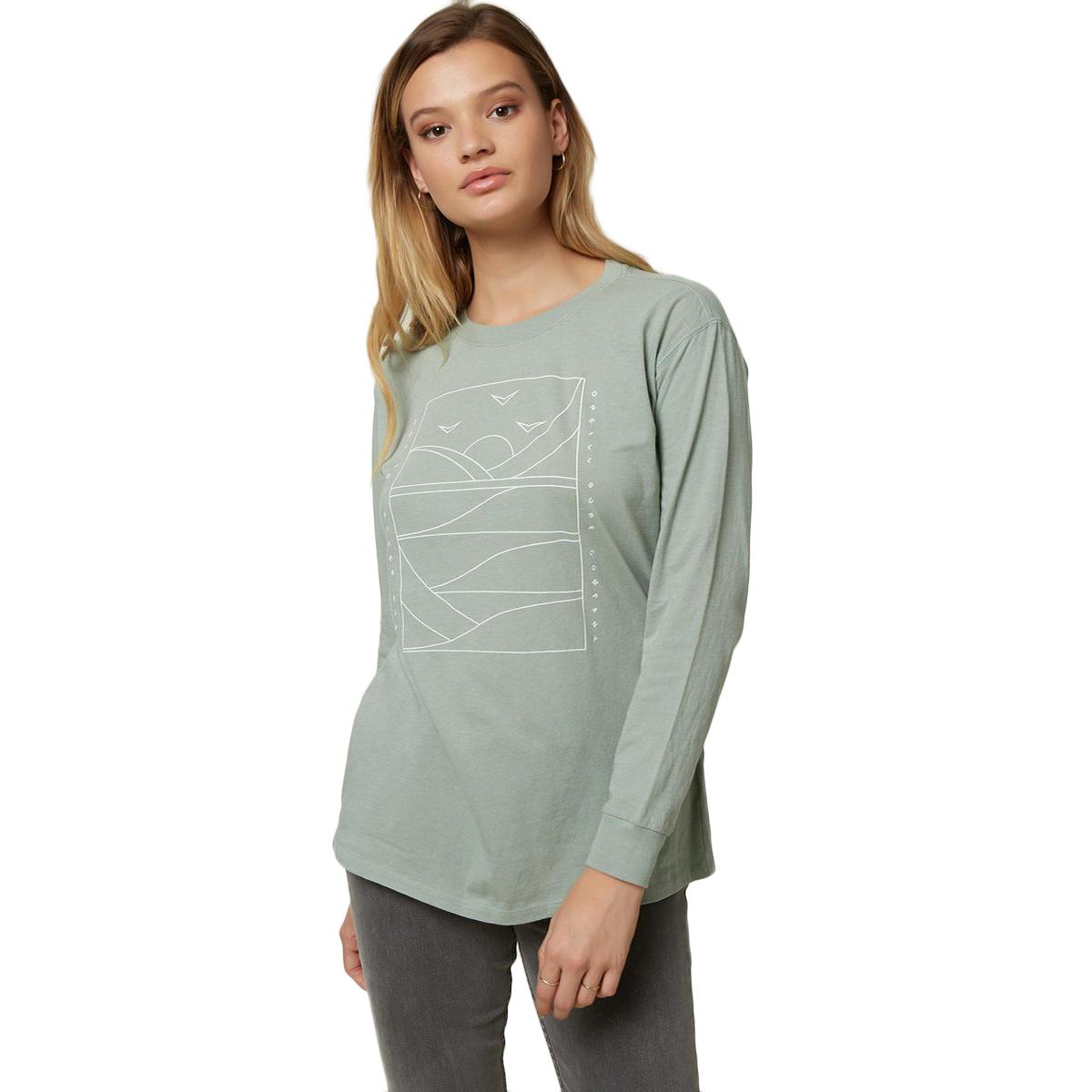 O'neill Women's Modern Coast Long-Sleeve Tee - Green, XS
