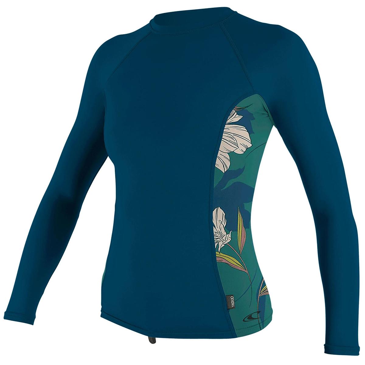 O'neill Women's Rashguard Long-Sleeve Shirt - Blue, L