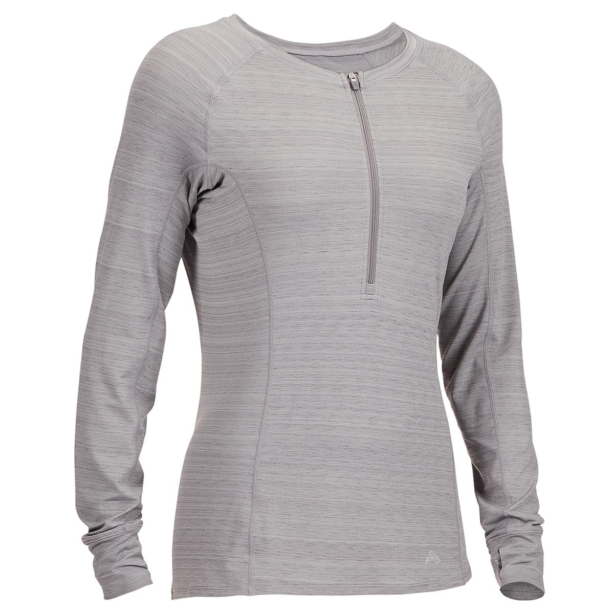 Ems Women's Long-Sleeve Half-Zip Deck Top - Black, XS