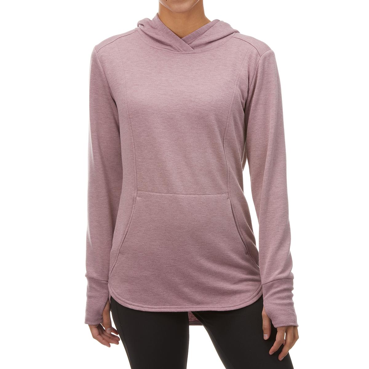 RBX Women's Long-Sleeve Fleece Hooded Tunic - Red, L