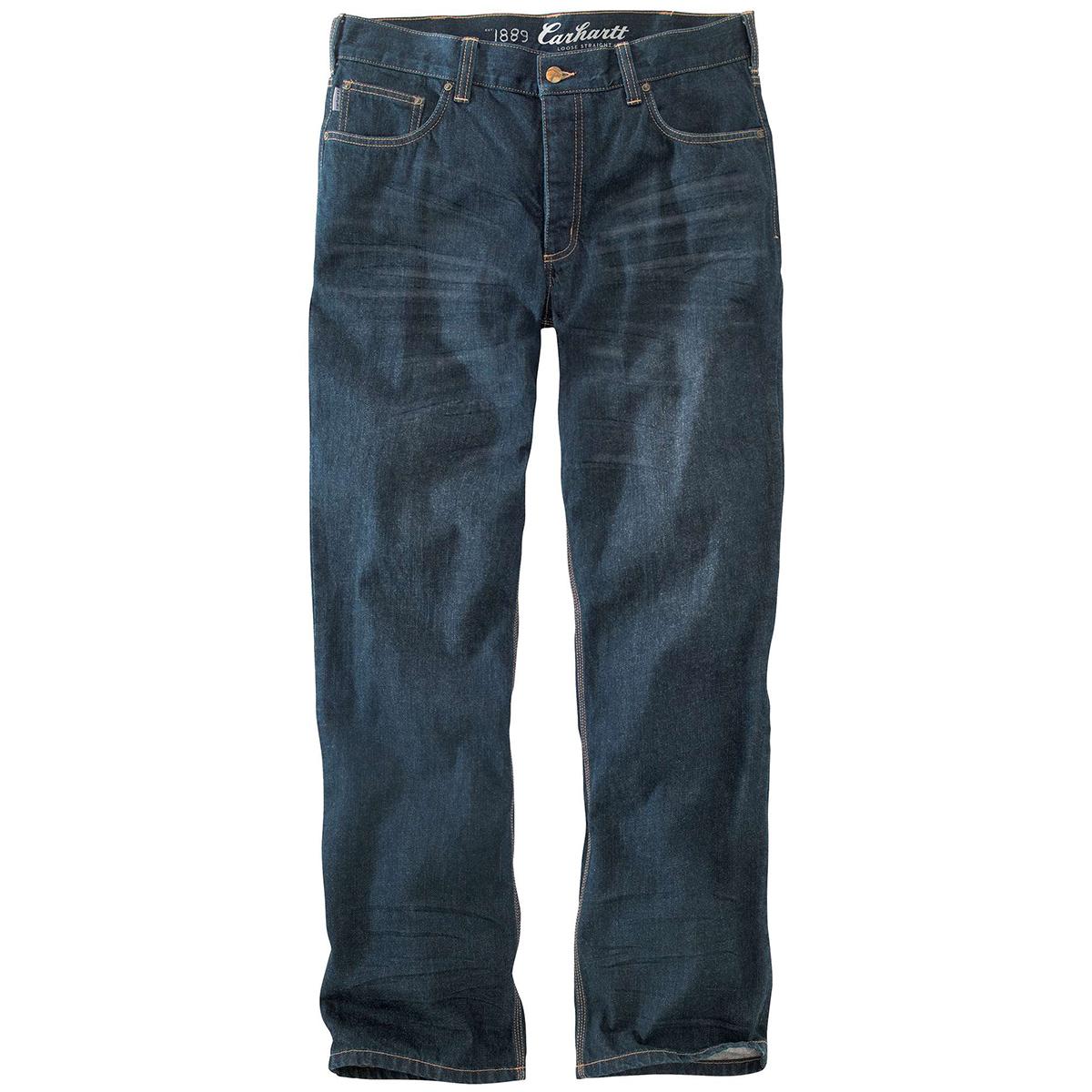 Carhartt Men's 101019 M 1889 Loose Straight Jeans - Blue, 36/32
