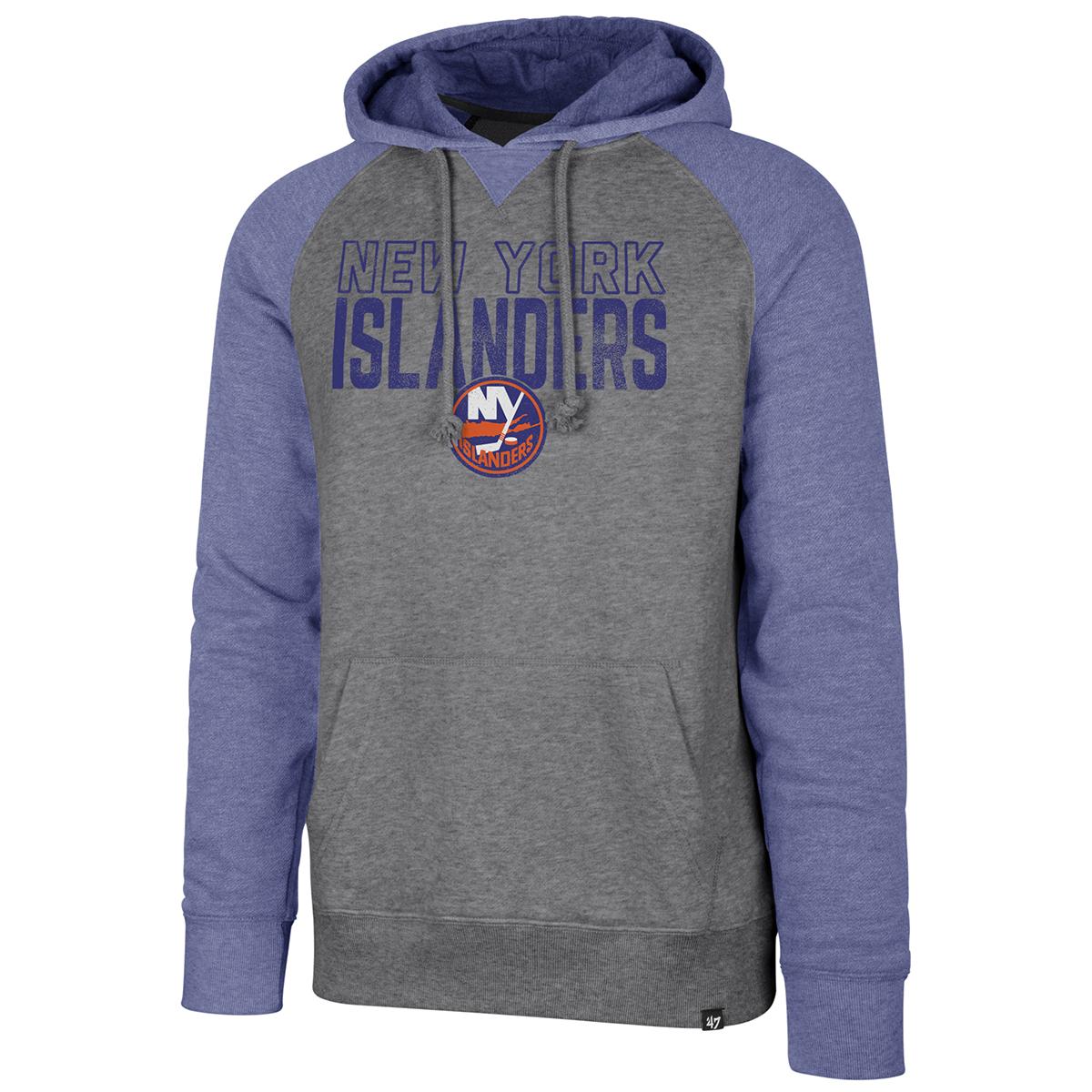 New York Islanders Men's '47 Match Raglan Pullover Hoodie - Black, L