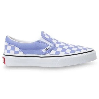 Vans Kids' Classic Checked Slip-On Shoe - Purple, 4.5