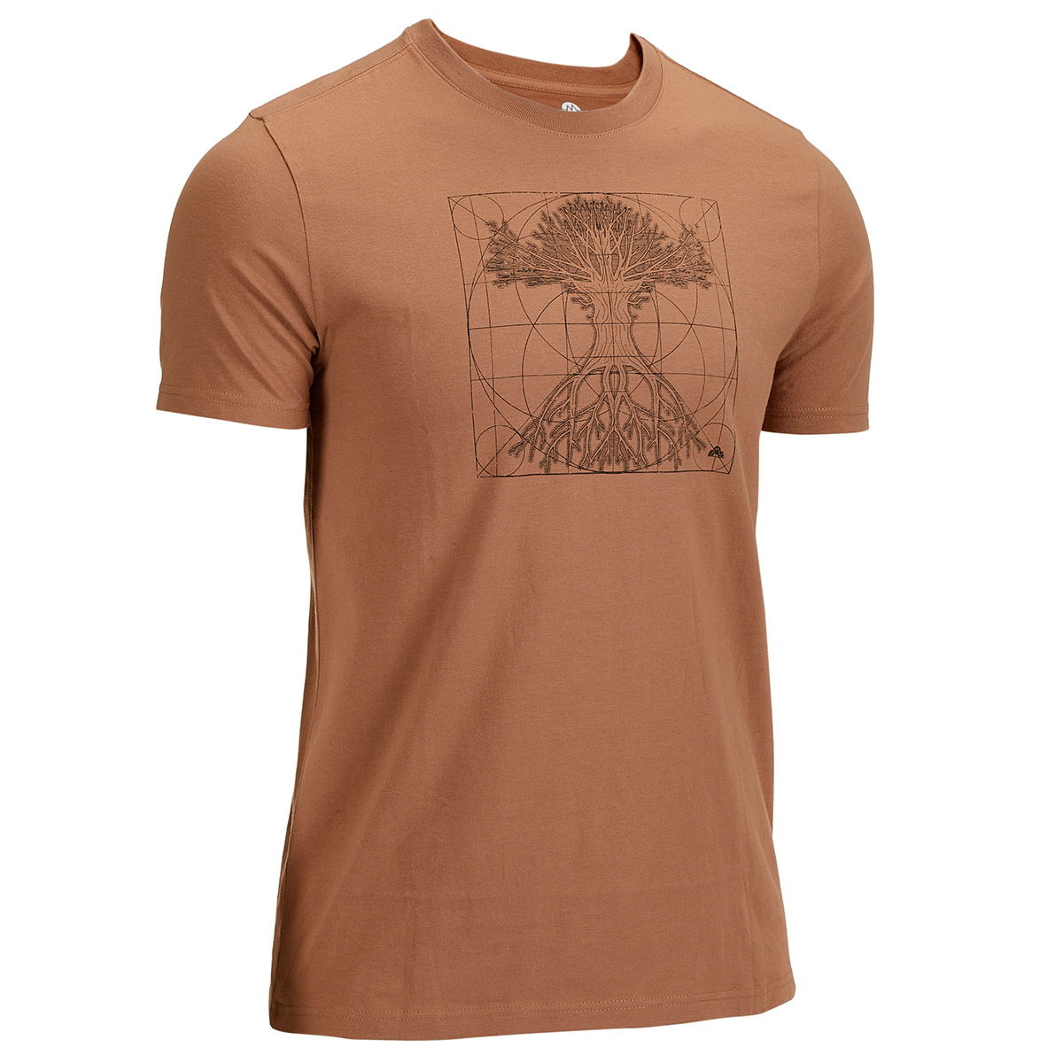 Ems Men's Short-Sleeve Graphic Tee - Brown, M