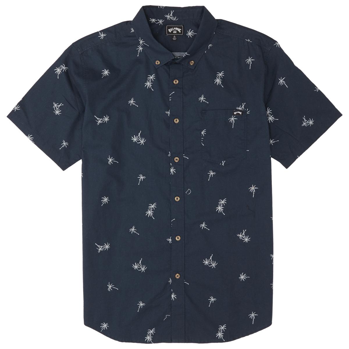 Billabong Men's Sundays Mini Short-Sleeve Shirt - Blue, XL