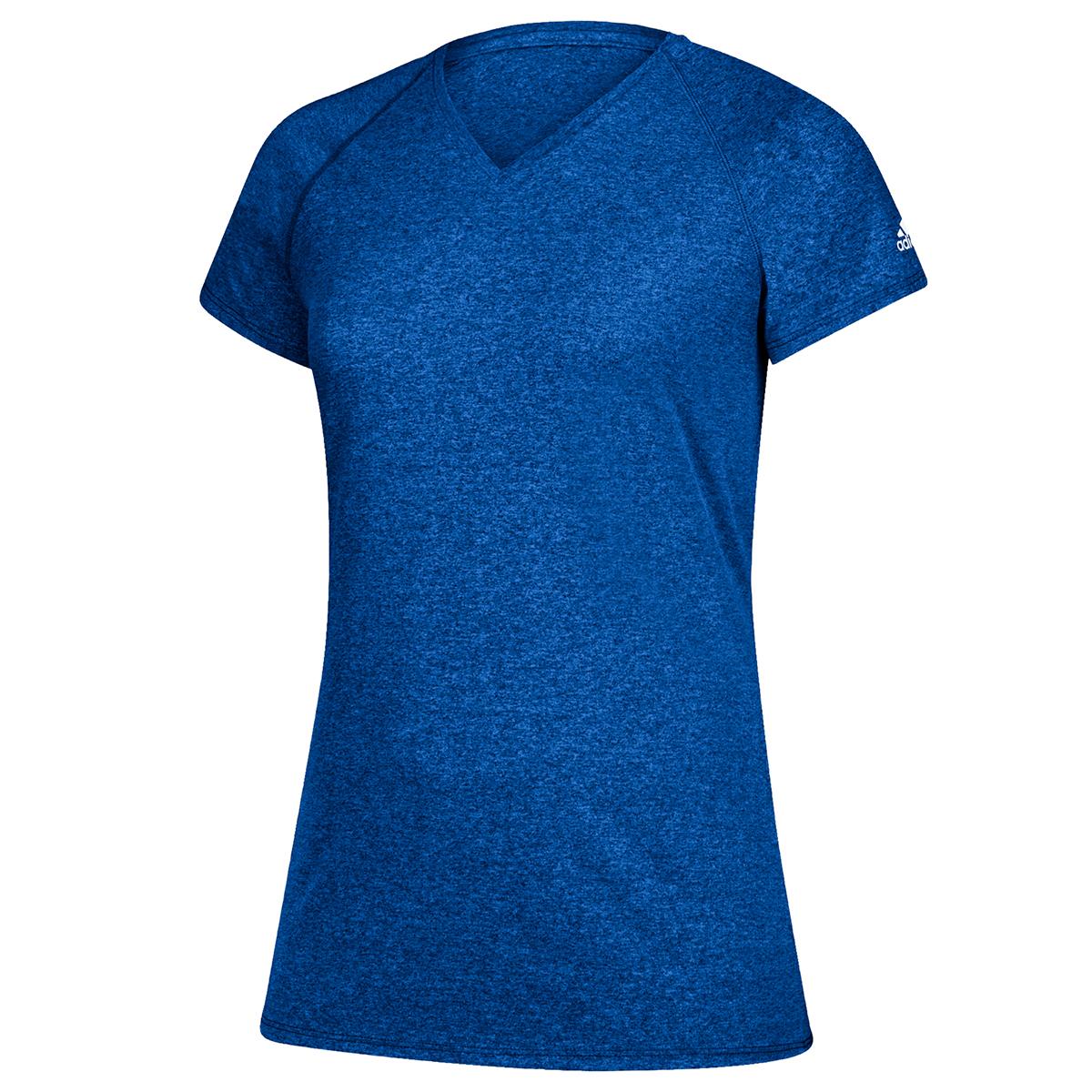 Adidas Women's Short-Sleeve Team Climalite Tee - Blue, 4XL