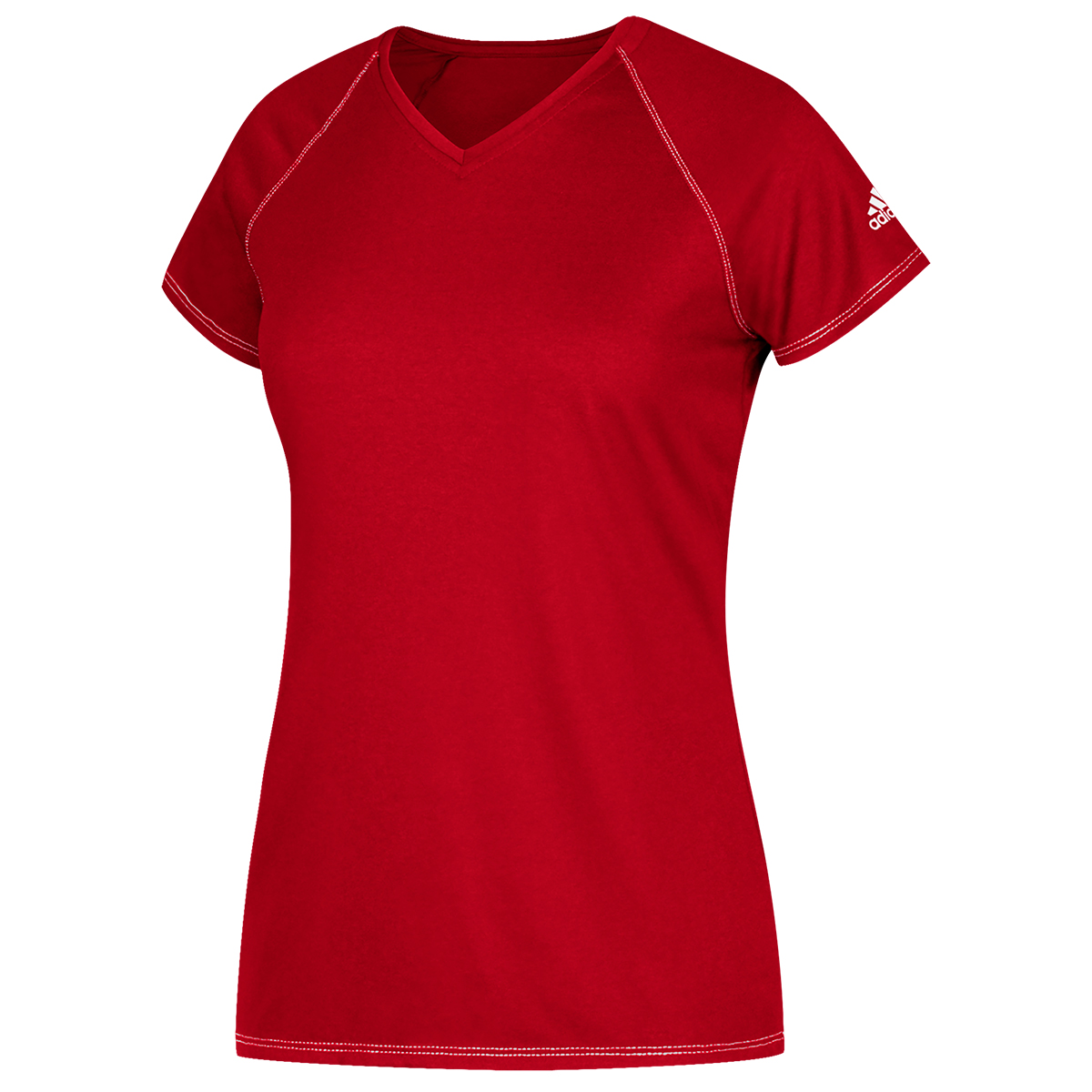 Adidas Women's Short-Sleeve Team Climalite Tee - Red, 3XL