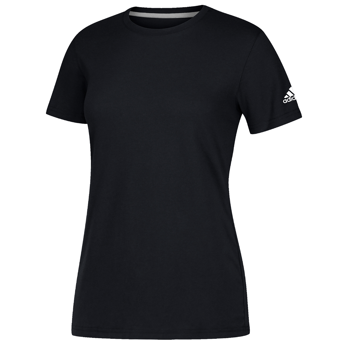 Adidas Women's Short-Sleeve Performance Crew Neck Tee - Black, 3XL