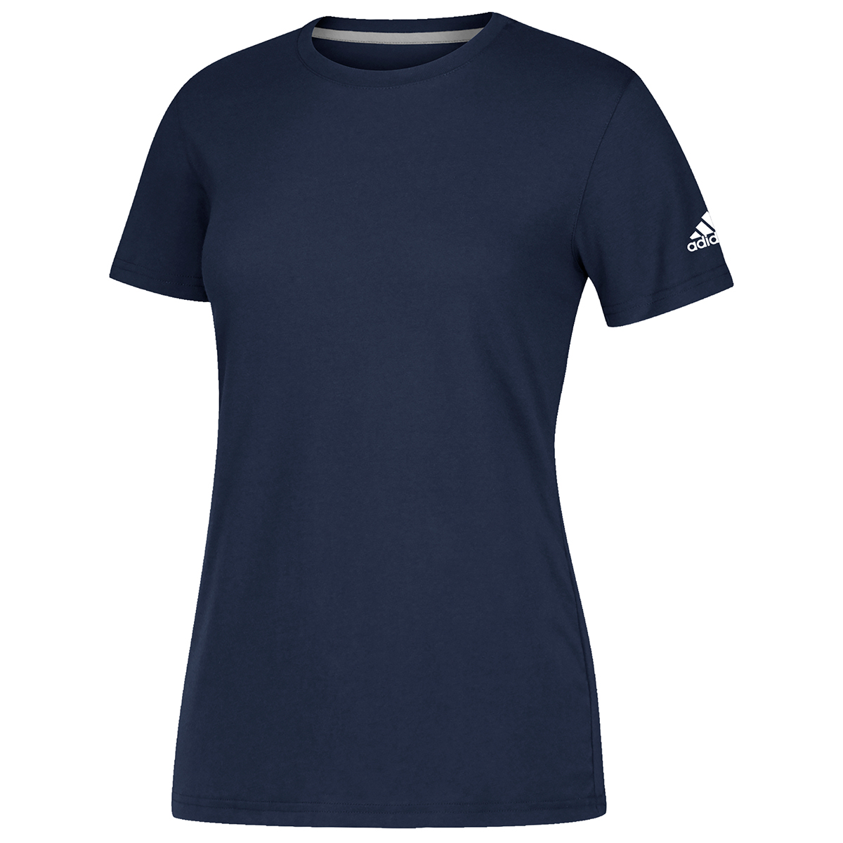 Adidas Women's Short-Sleeve Performance Crew Neck Tee - Blue, 3XL