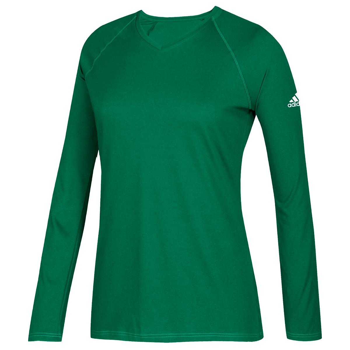 Adidas Women's Long-Sleeve Climate Tee - Green, M