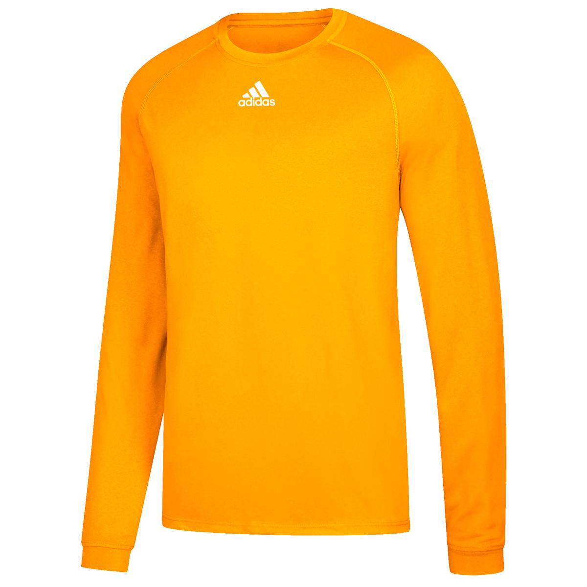 Adidas Men's Climalite Long-Sleeve Tee - Yellow, XS