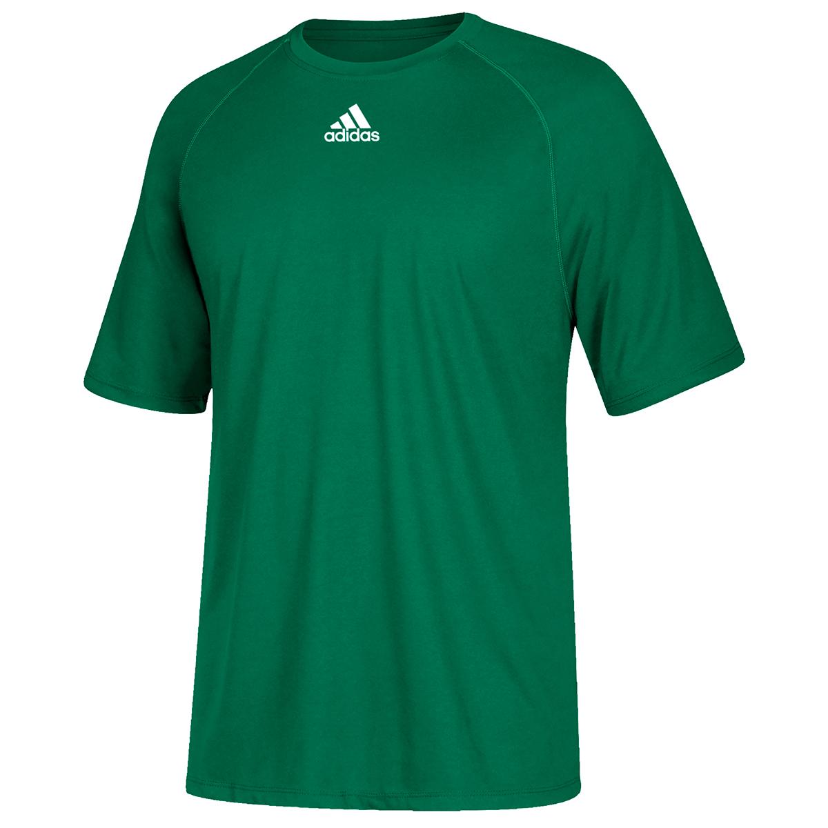Adidas Men's Climalite Short-Sleeve Tee - Green, S