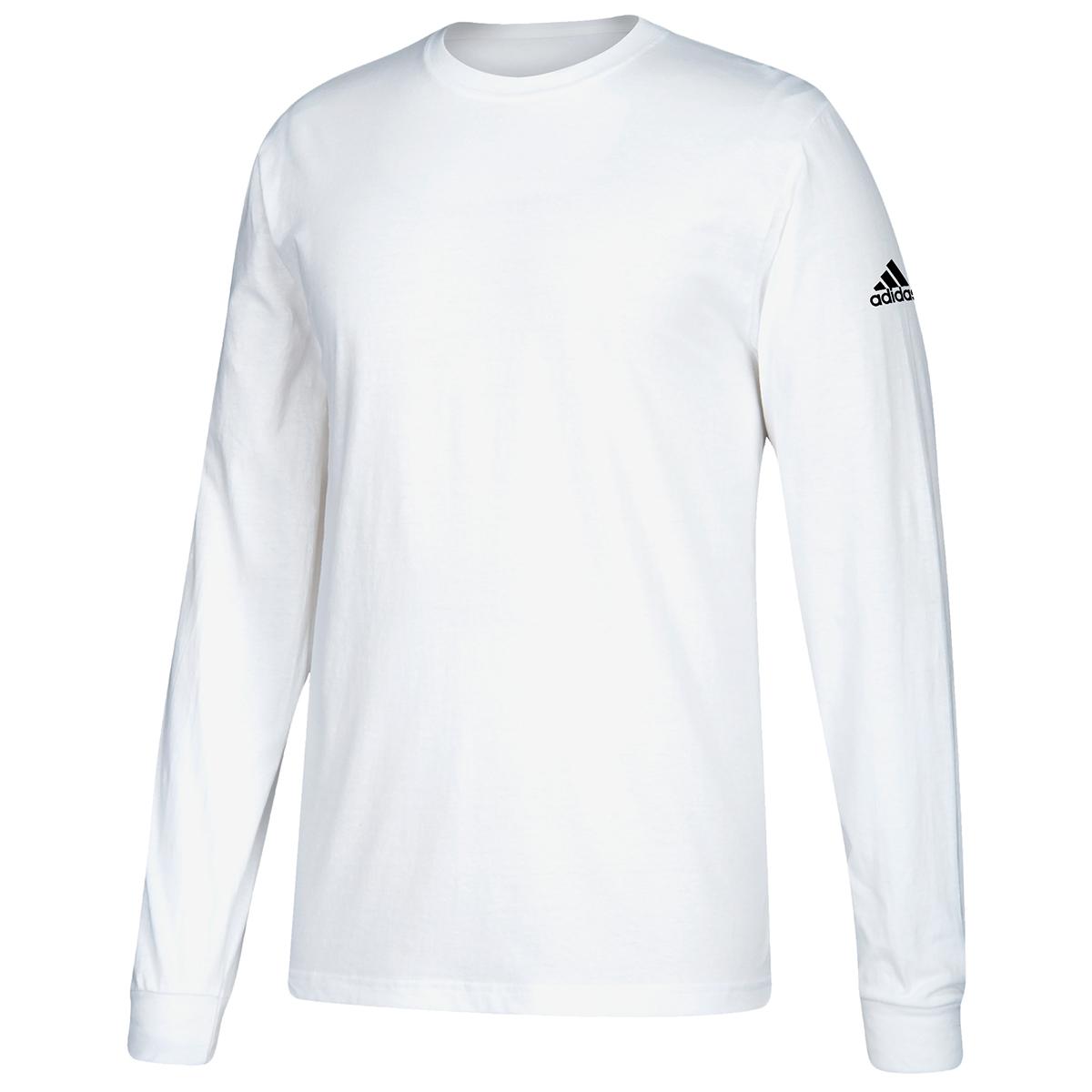 Adidas Men's Performance Long-Sleeve Tee - White, S