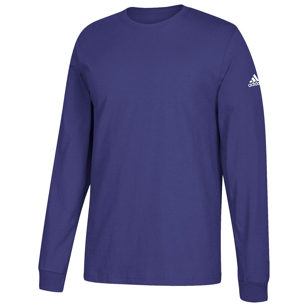 Adidas Men's Performance Long-Sleeve Tee - Purple, S