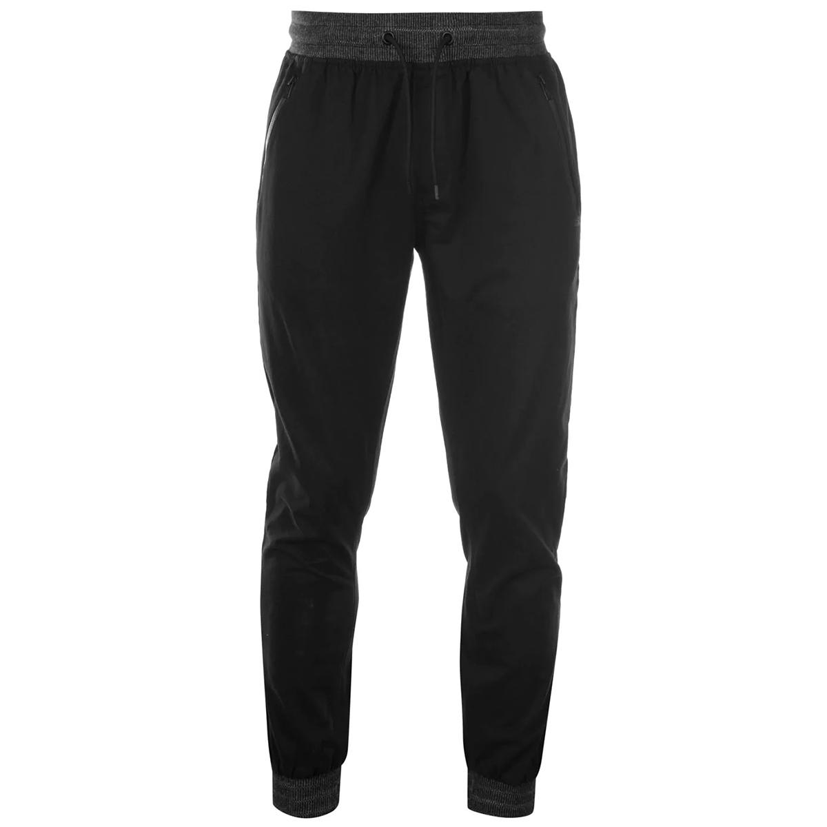 No Fear Men's Ribbed Waist Chino Pants - Black, 3XL