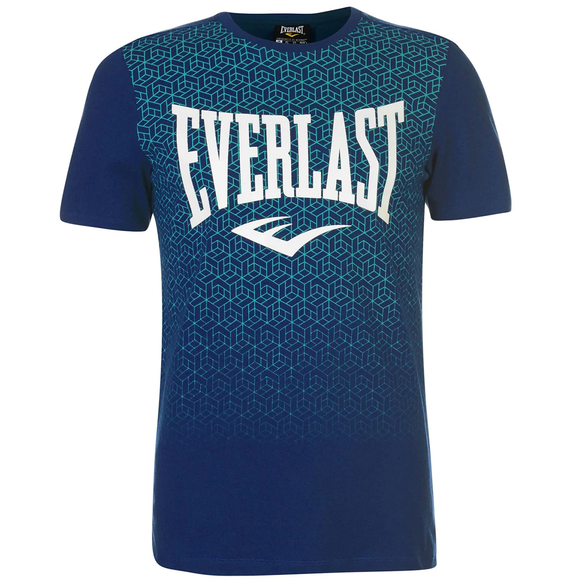 Everlast Men's Geo Print Short-Sleeve Tee - Blue, XXL