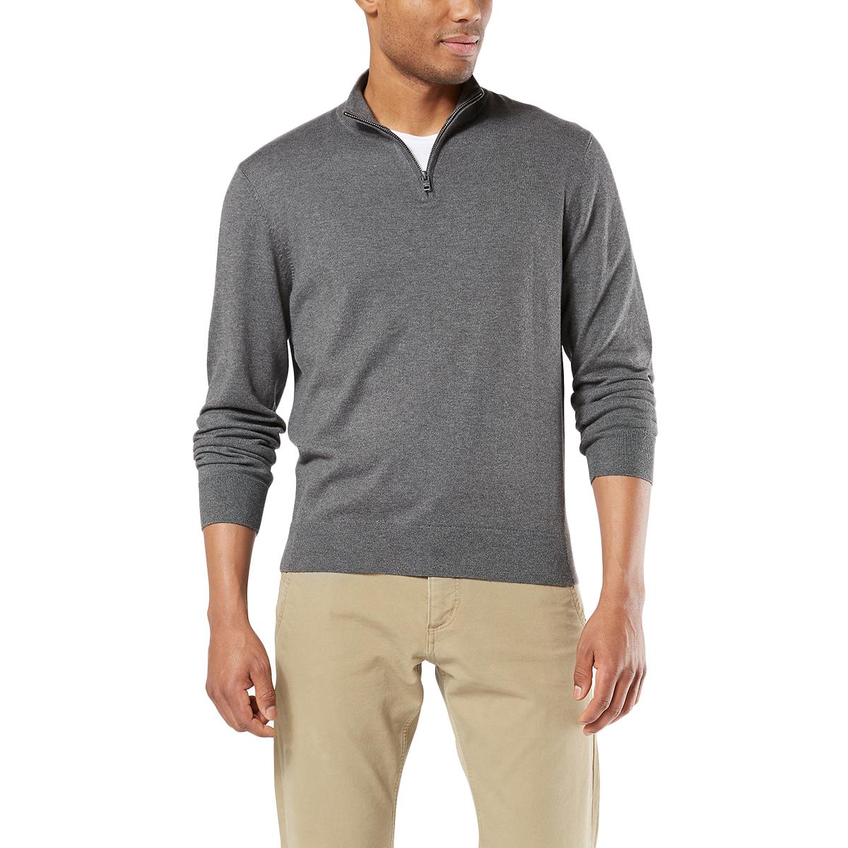 Dockers Men's 1/4-Zip Sweater - Black, M