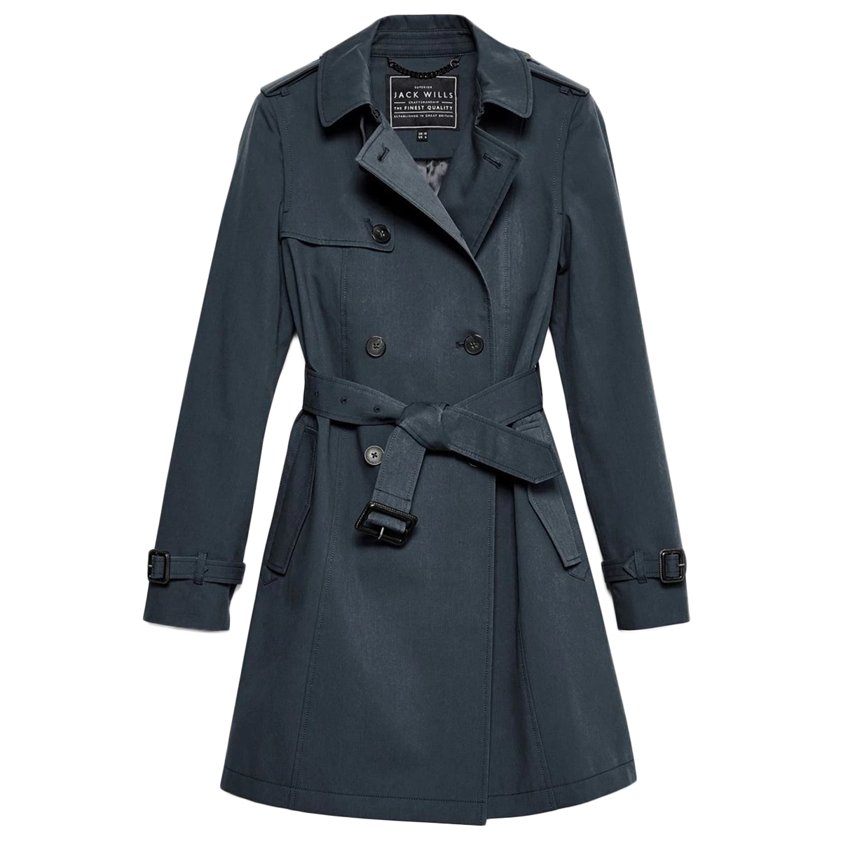 Jack Wills Women's Ambrose Trench Coat - Black, 0