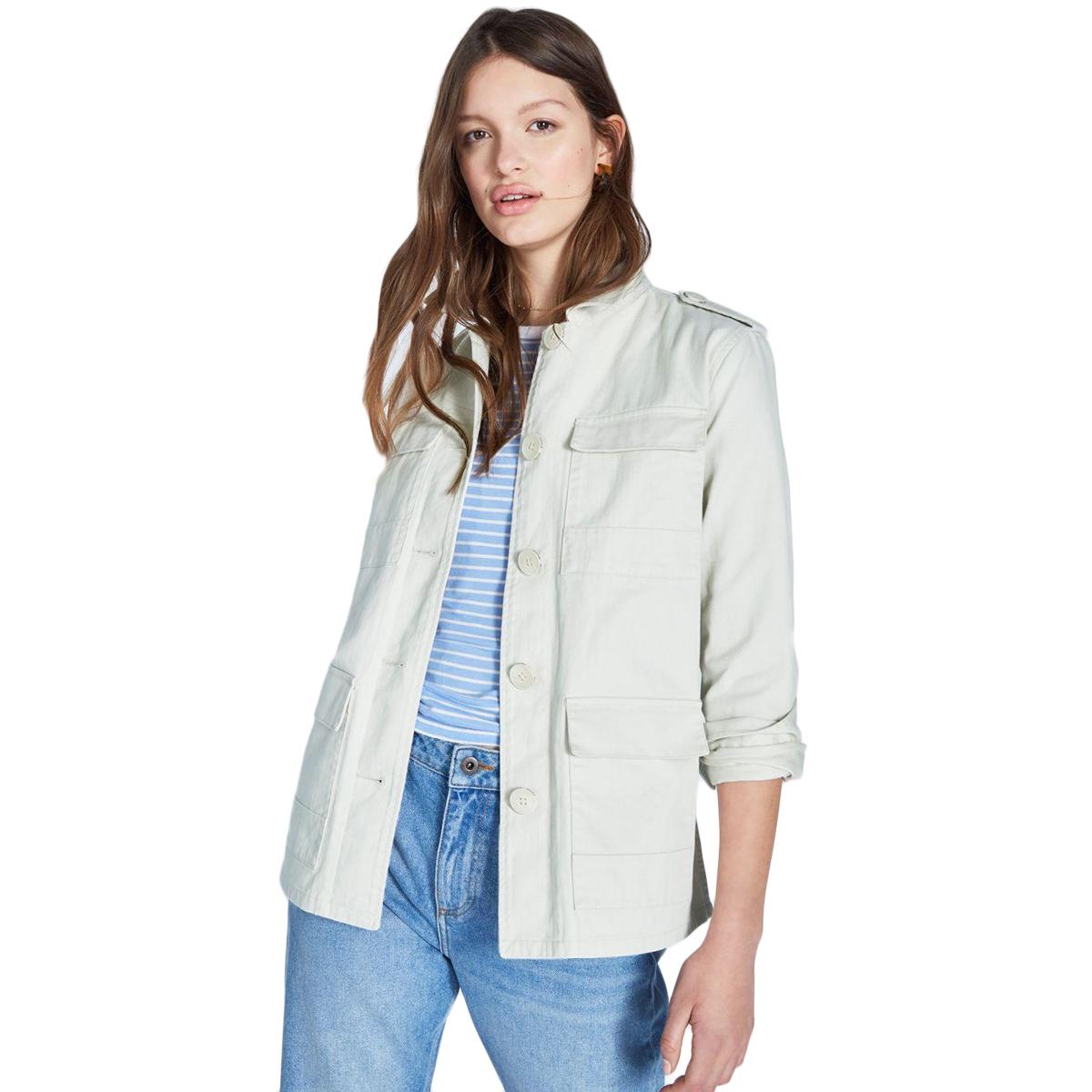 Jack Wills Women's Garrowby Utility Jacket - White, 10