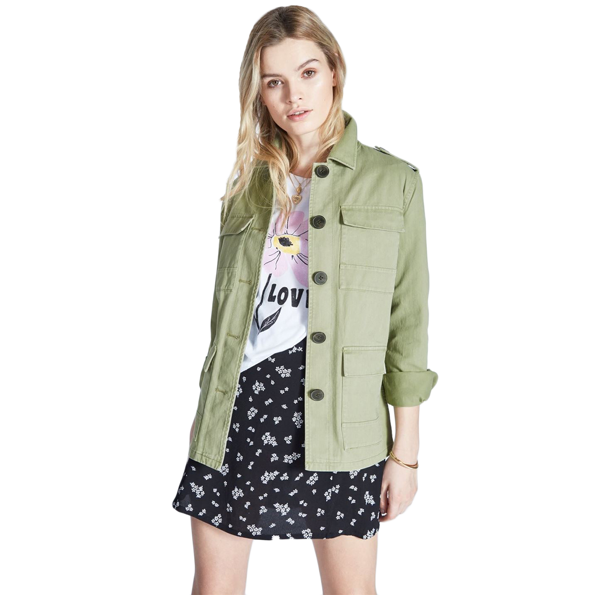 Jack Wills Women's Garrowby Utility Jacket - Green, 2