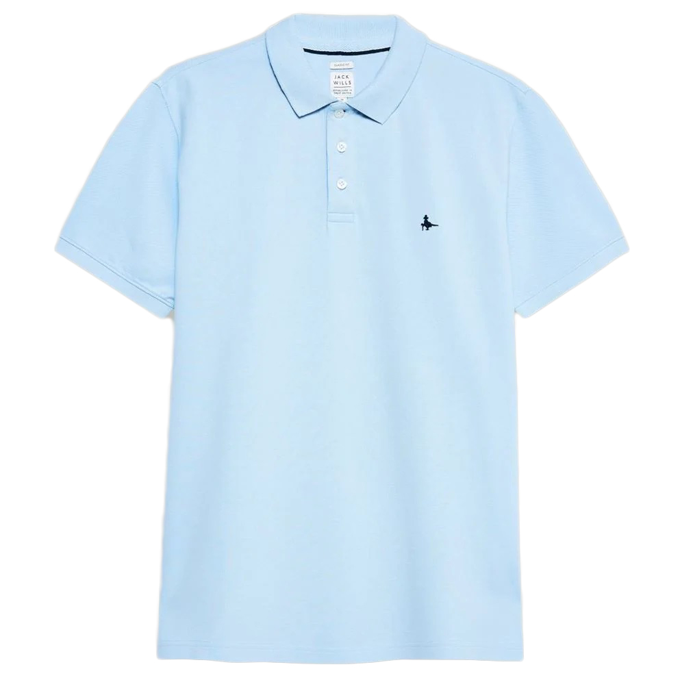 Jack Wills Men's Bainlow Garment Dye Polo Shirt - Blue, L