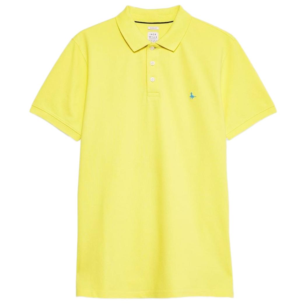 Jack Wills Men's Bainlow Garment Dye Polo Shirt - Yellow, L